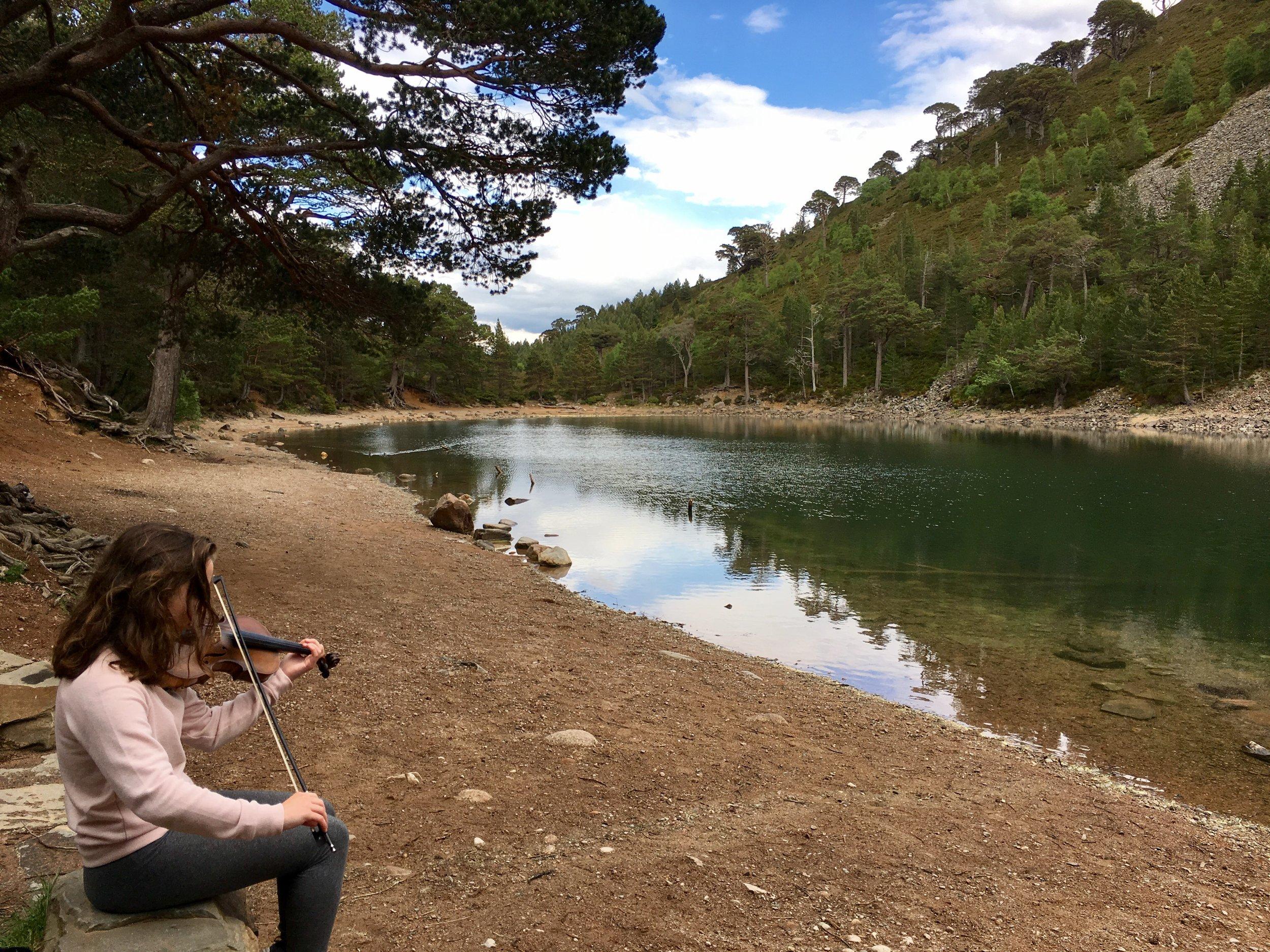 Emma at An Lochan Uaine