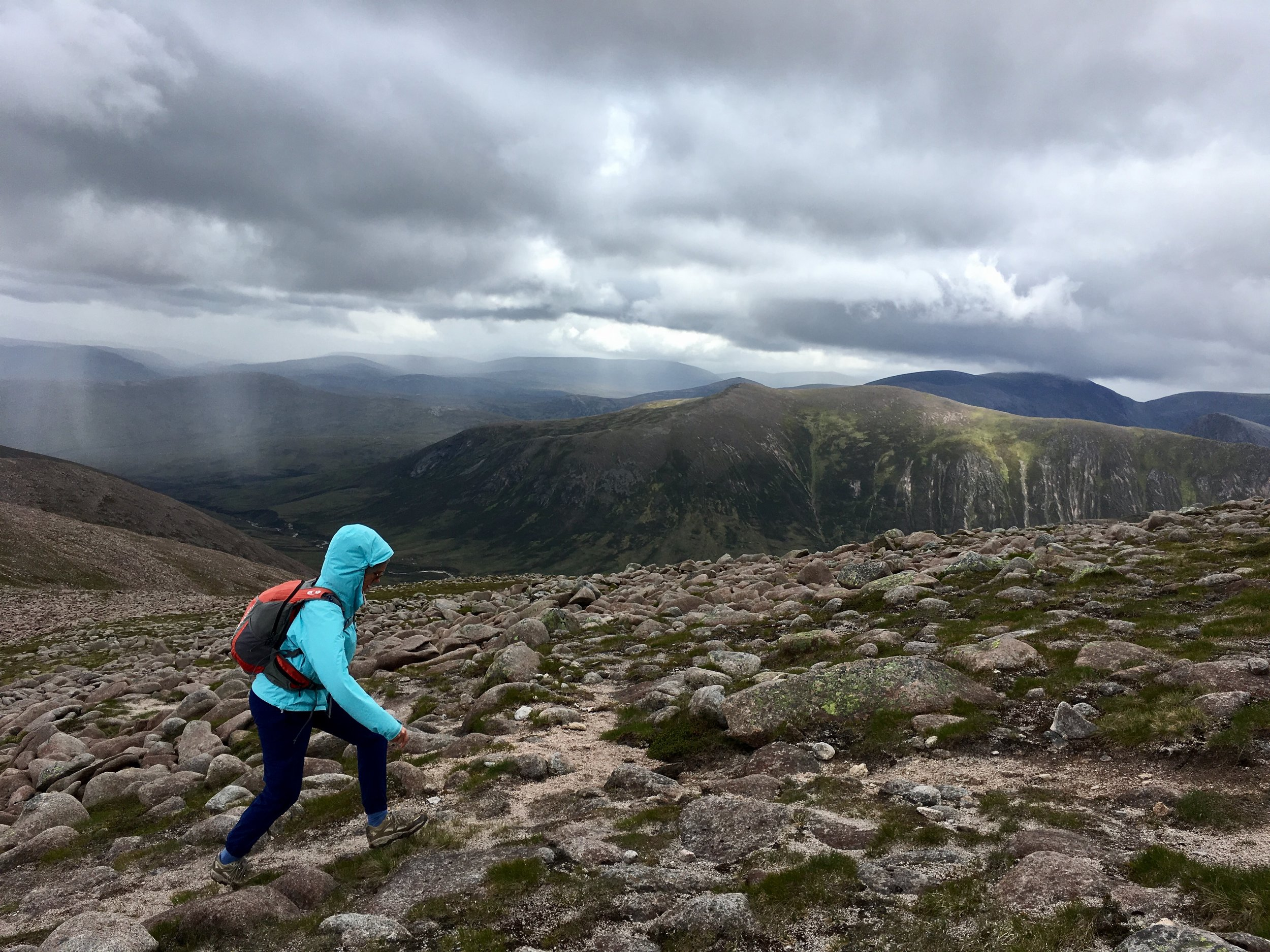 On our way up Derry Cairngorm