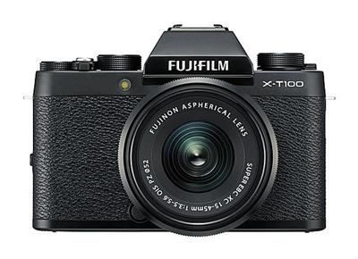 Fujifilm X-T100 + 15-45mm - £599 - 24.2 megapixel sensor,three-way tilting touch screen, and the latest Bluetooth®*1 technology, it's the ultimate everyday photographic companion.