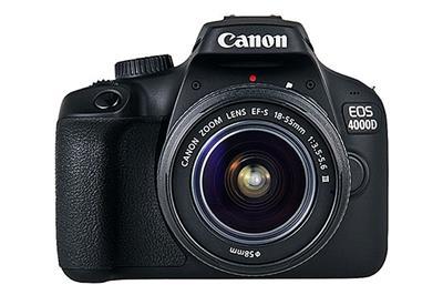Canon EOS 4000D + 18-55mm NON IS - £319 - 18-megapixel APS-C sensor Full HD movie recordingBuilt-in Wi-Fi 3fps burst shooting Shutter Speed, Maximum: 1/4000 secShutter Speed, Minimum: 30 secConnectivity: Hi Speed USB, Wi-Fi (IEEE802.11b/g/n), HDMI mini (Type-C) outputSize: 129.0 x 101.6 x 77.1 mmWeight: 436 g