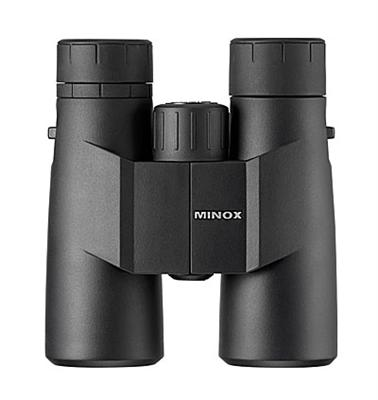 Minox 8x42 BF - £139 - Prism type: RoofMagnification (x): 8Objective lens diameter (mm): 42Minimum focus distance (m): 1.2Optical coating: Fully Multi-coated Size: 140 x 127mmWeight (g): 780