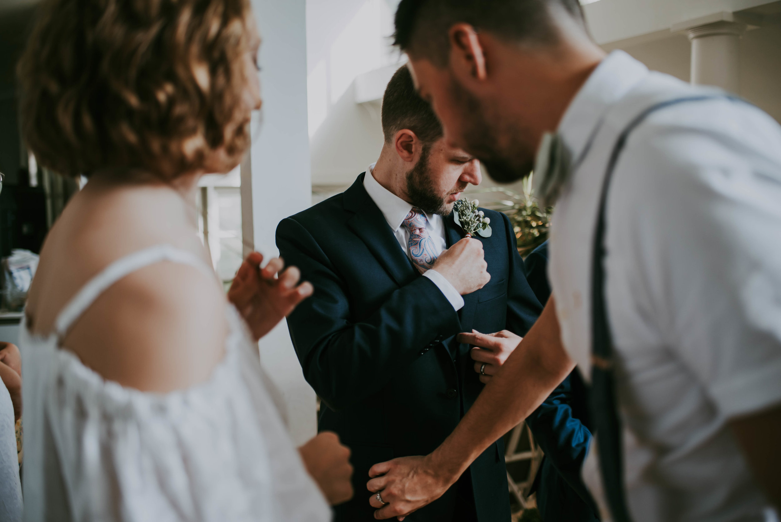 Rebecca Lassiter Photography - Groom getting Ready
