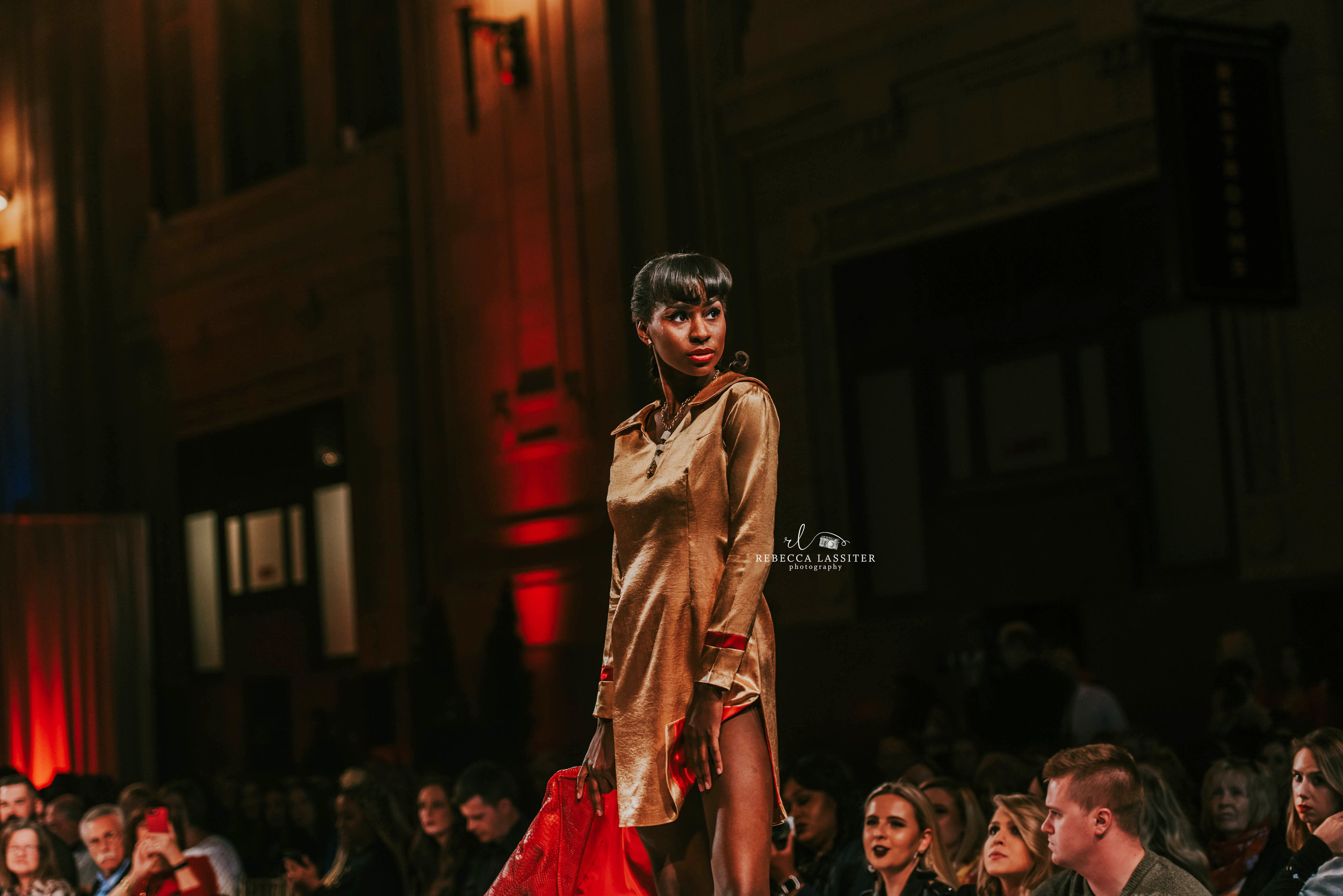 Rebecca Lassiter Photography KC Fashion Week Silk Dress