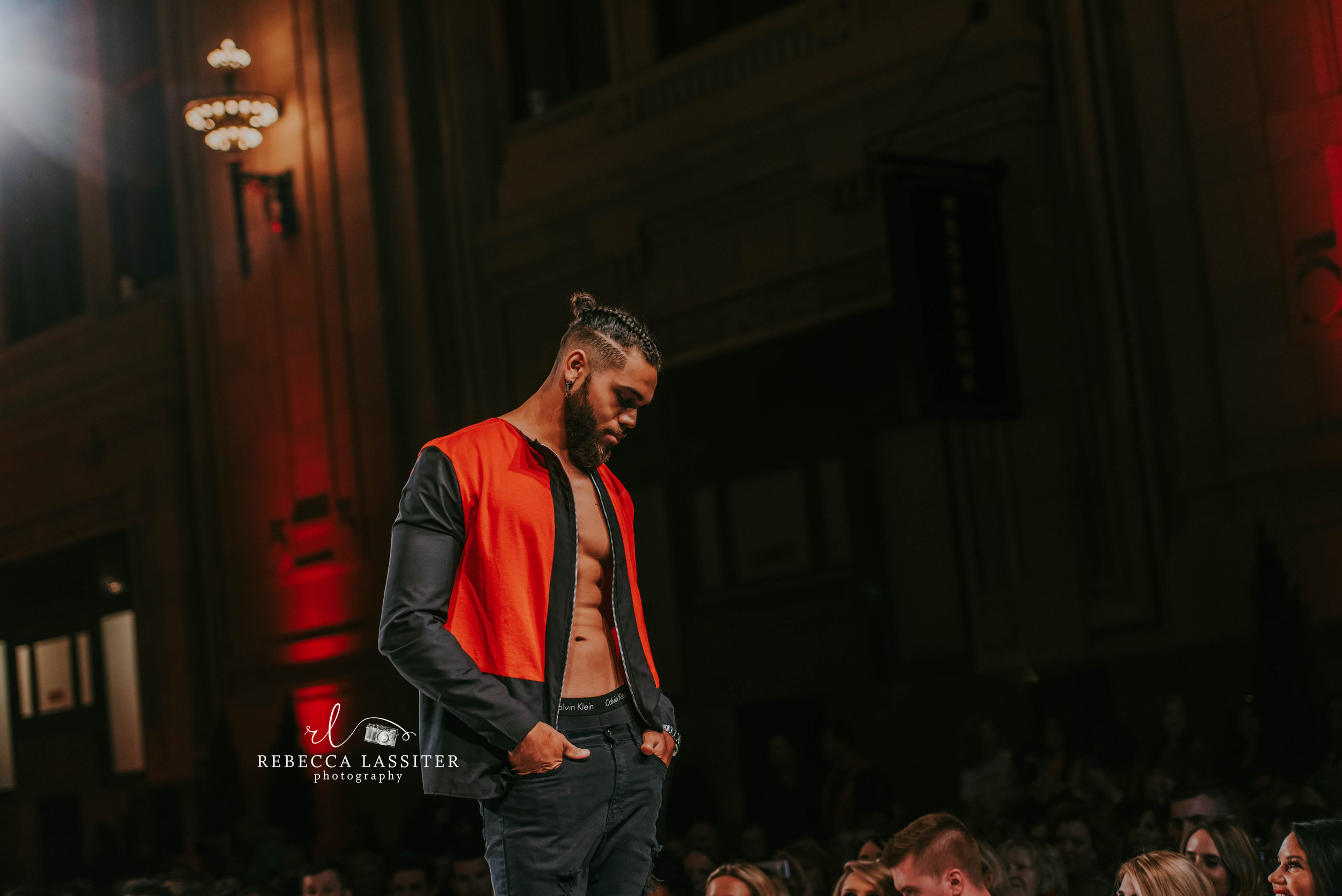 Rebecca Lassiter Photography, KC Fashion Week Abs, Manbun