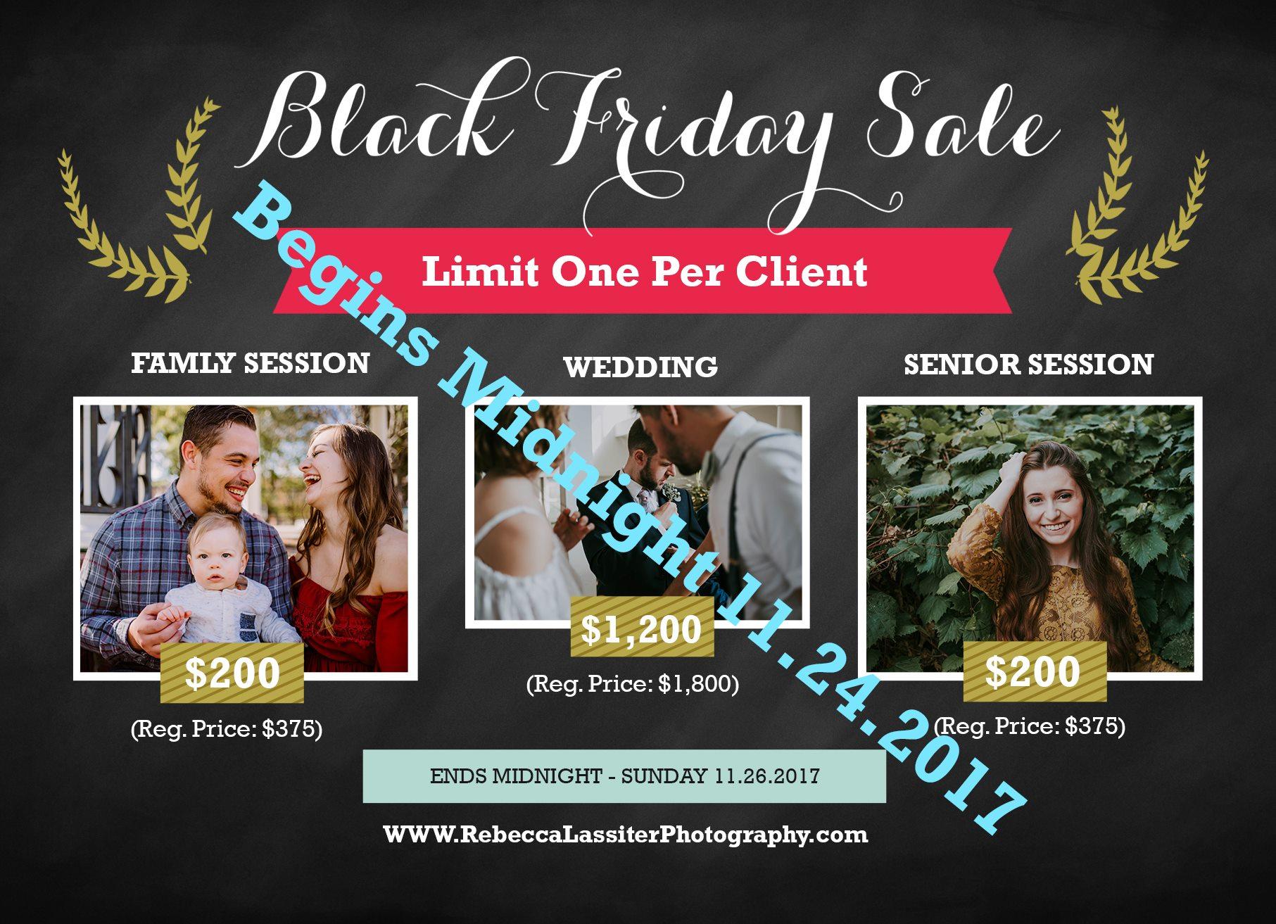 Kansas City Photographer Black Friday Special
