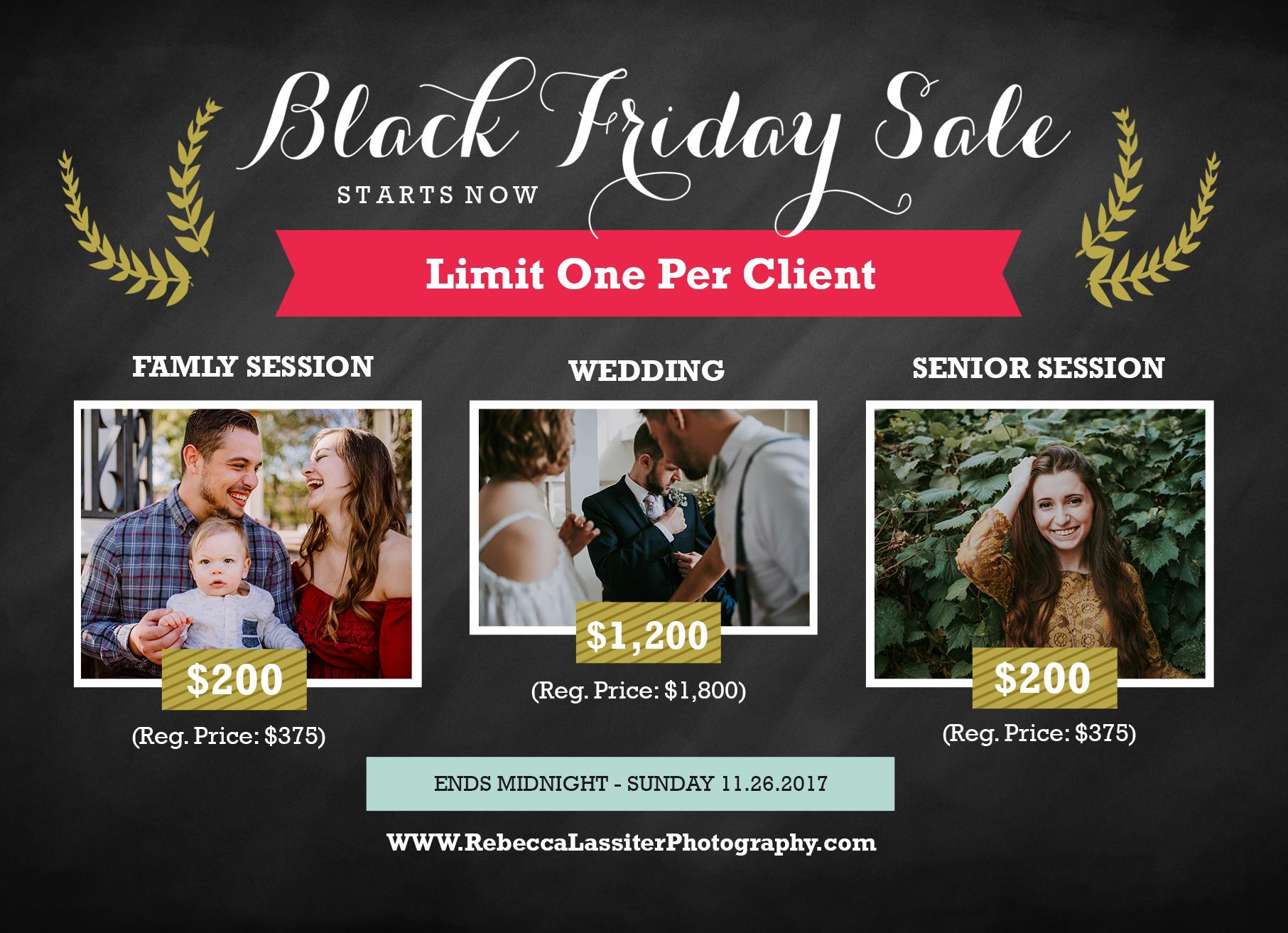 Kansas City Photographer - Black Friday Sale