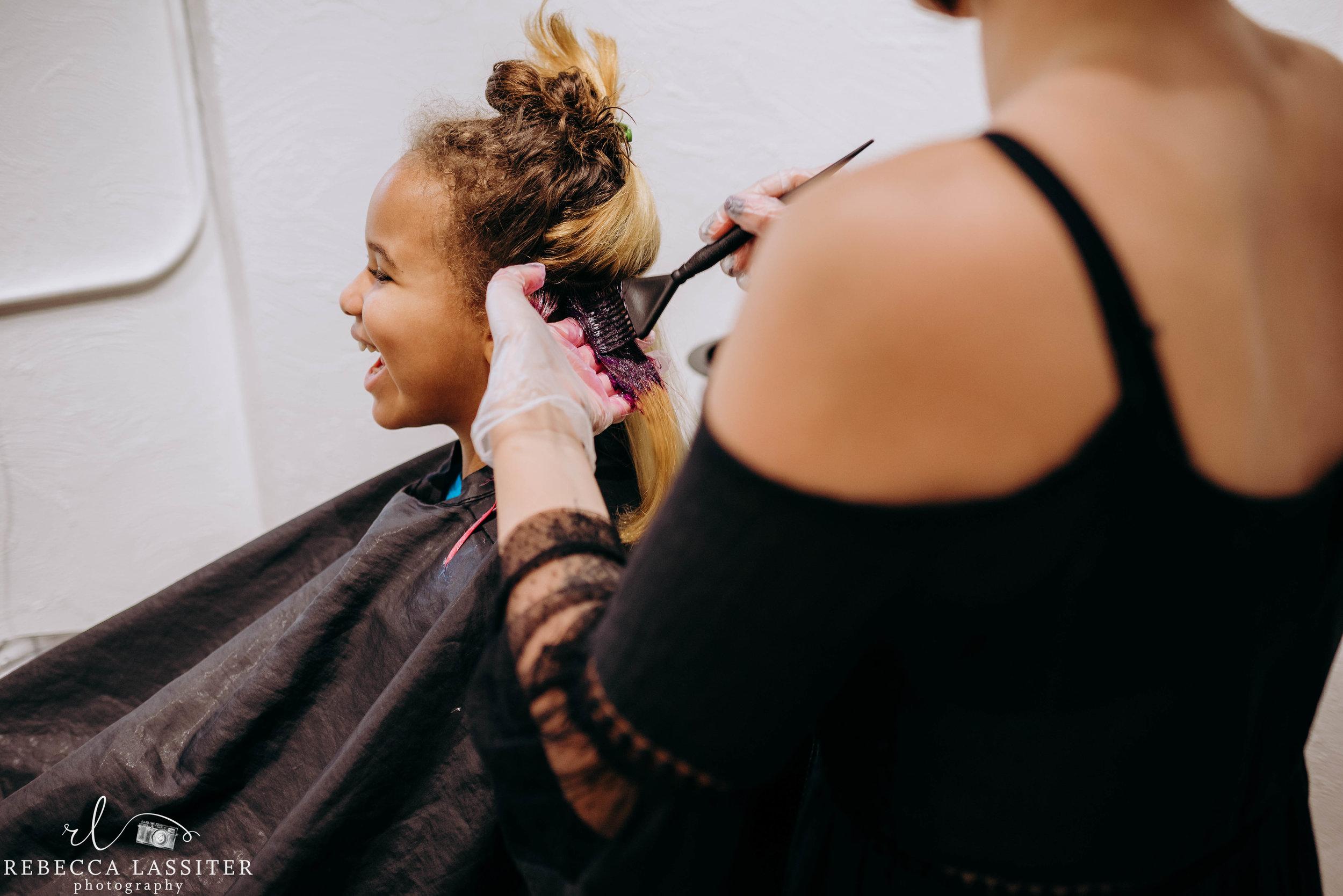 Layla Haircut photoshoot