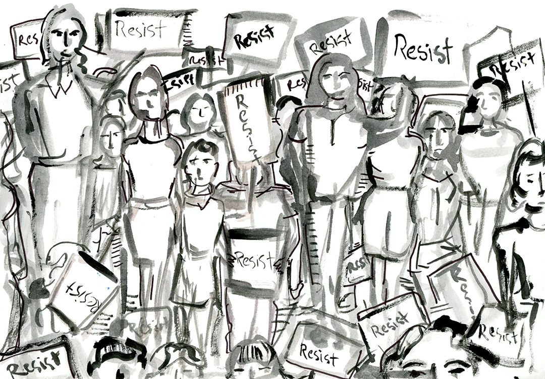 Illustration by  Lindsey Frances  // 2018 Women's March photos  here