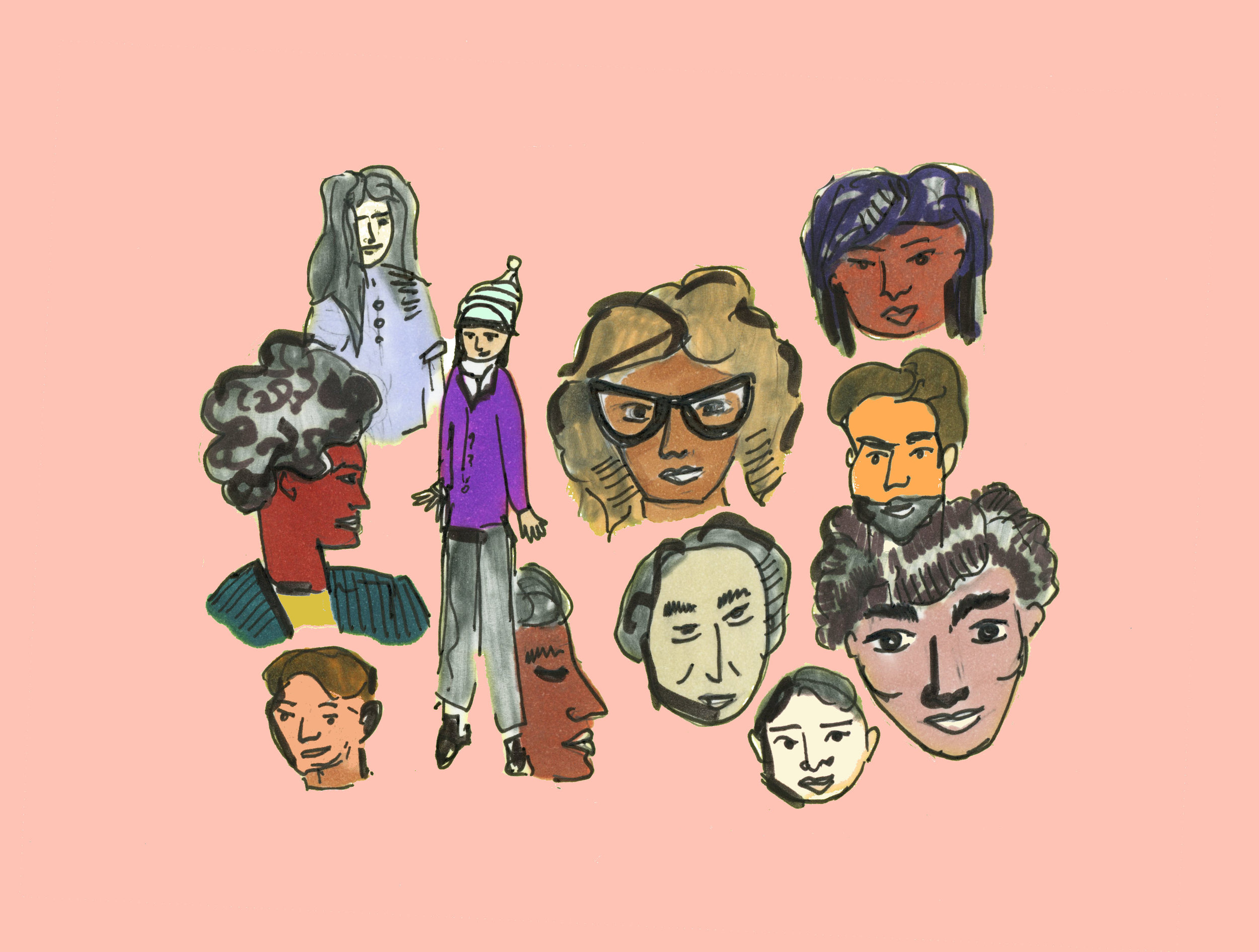 """""""All The People of New York City"""" illustration by  Lindsey Frances"""