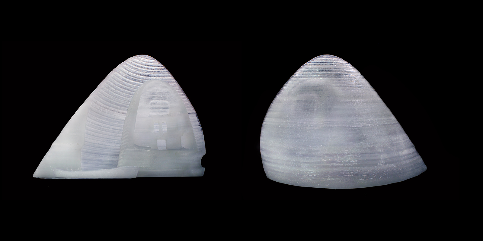 Ice shell prototypes, created in collaboration with McGill University