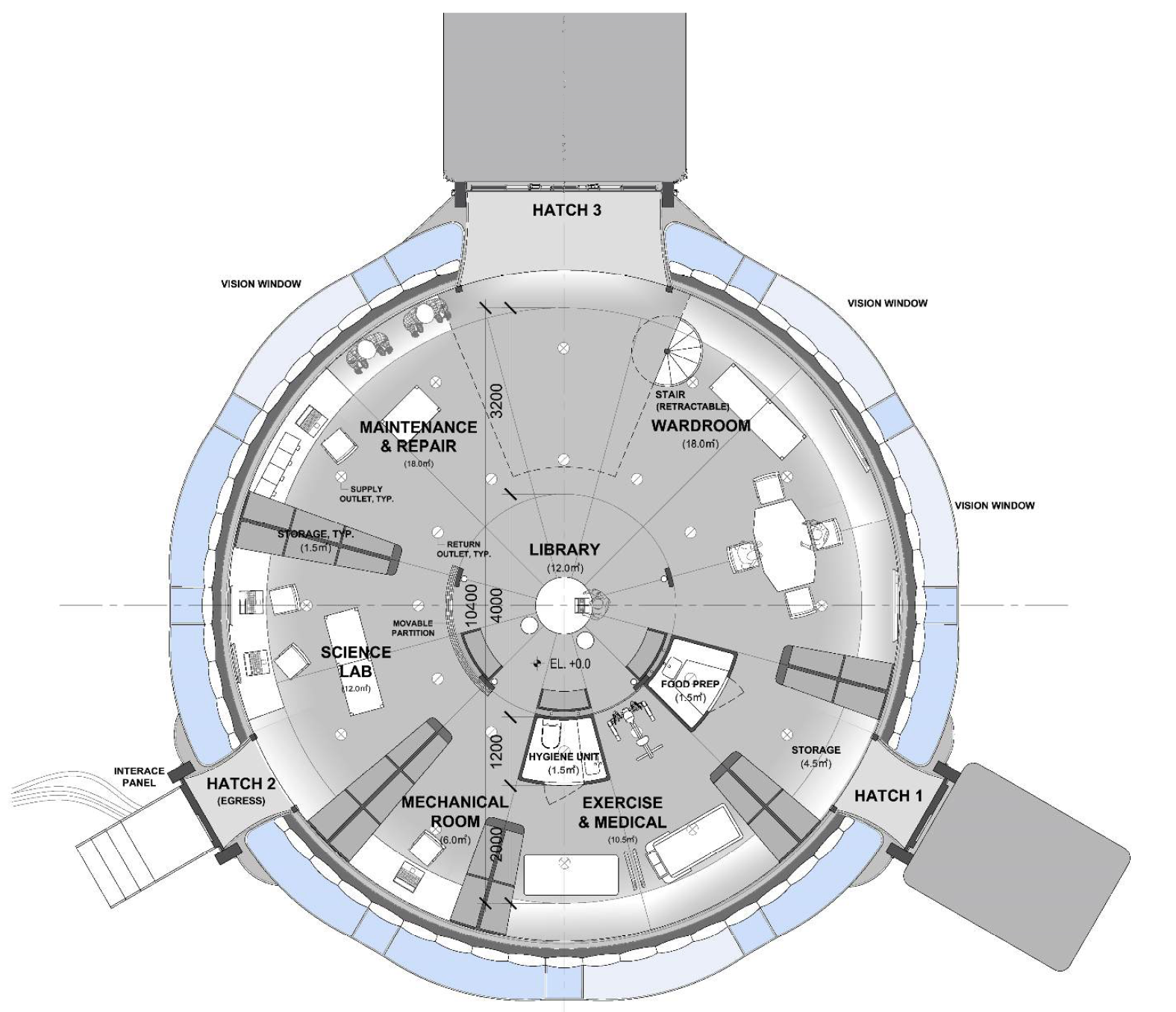 First floor plan and program areas
