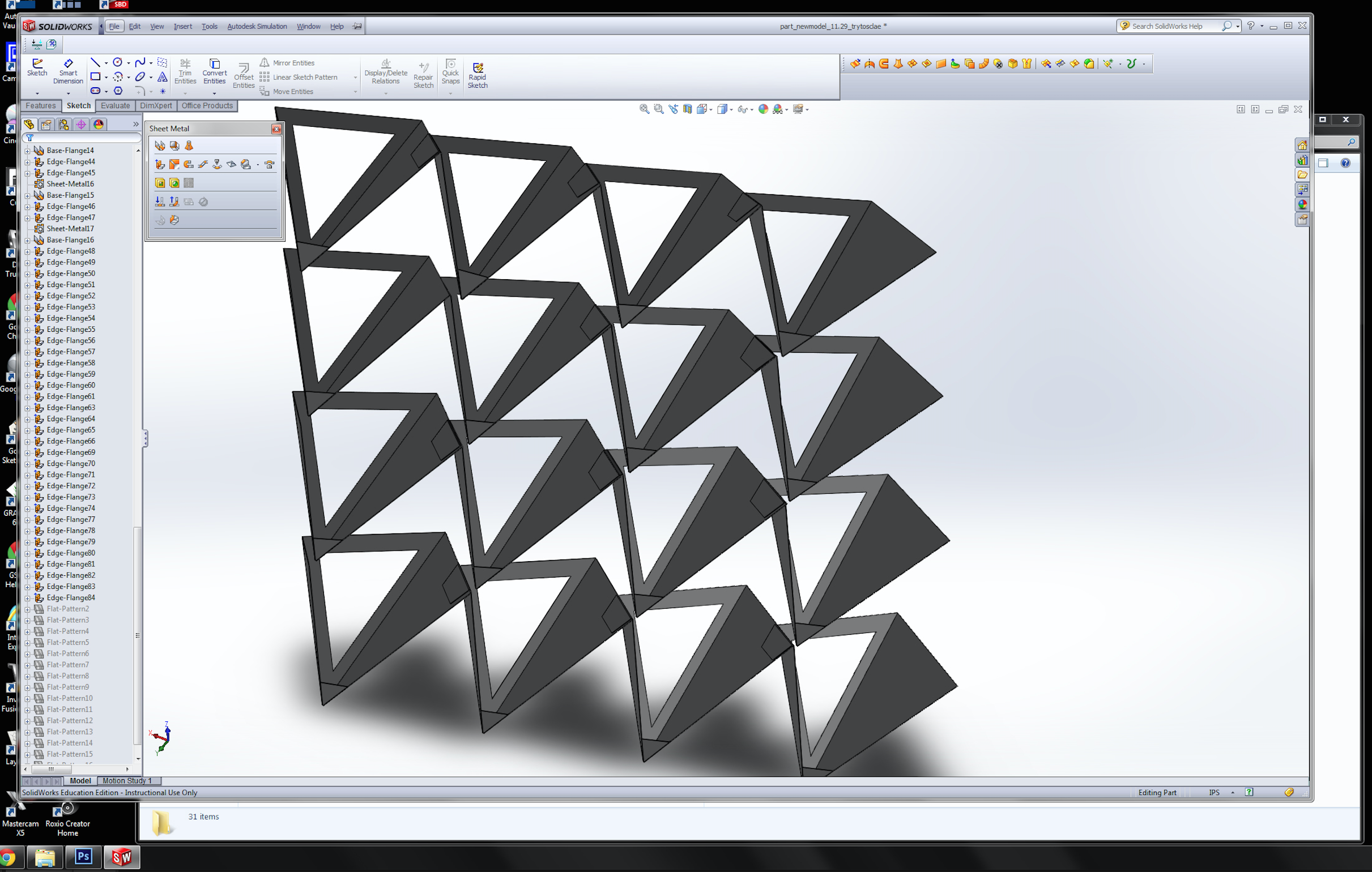 Sheet metal cut files exported from Solidworks. Sheet metal cutting courtesy of Maloya Laser.