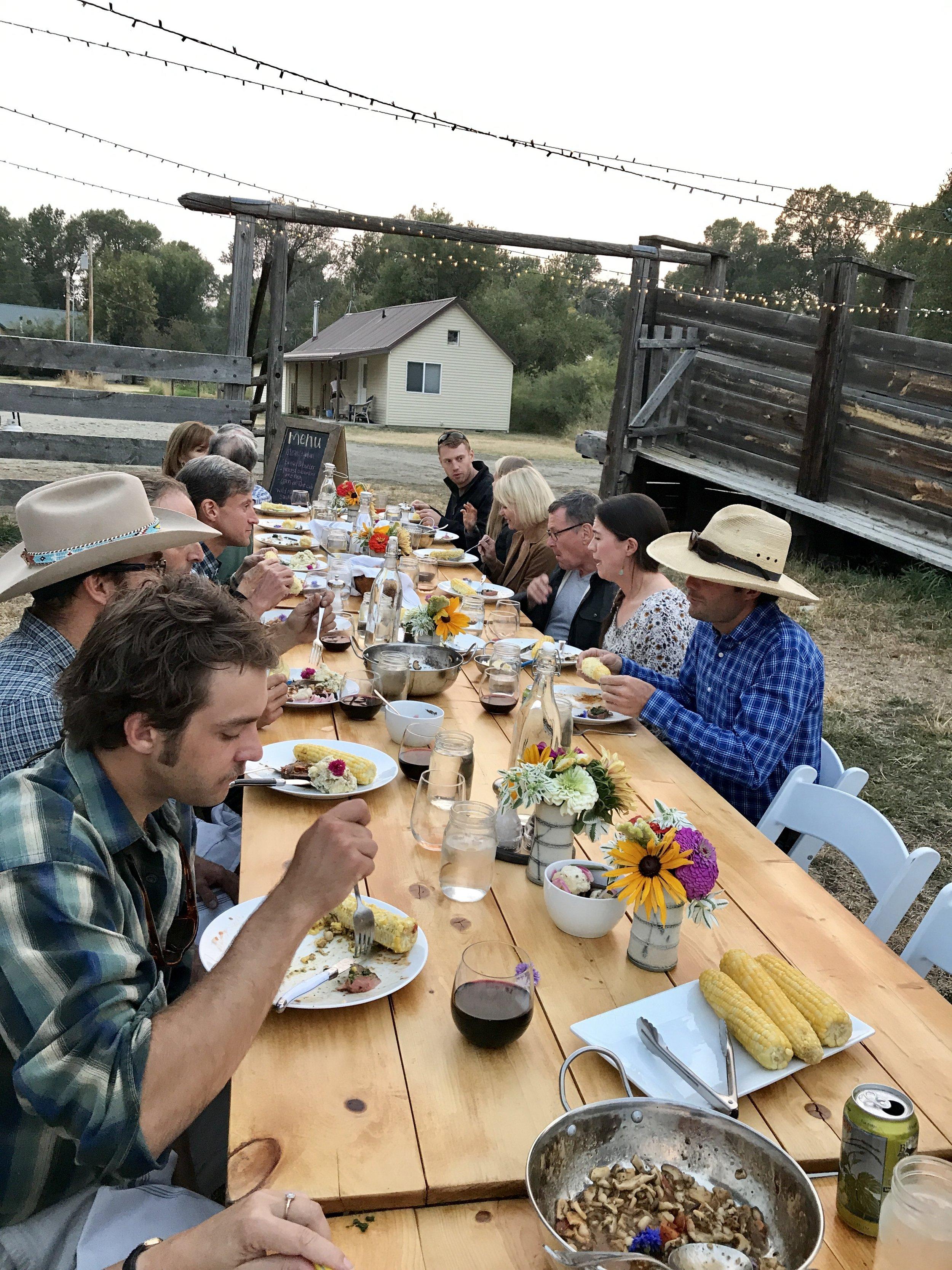Ranch Dinner Montana