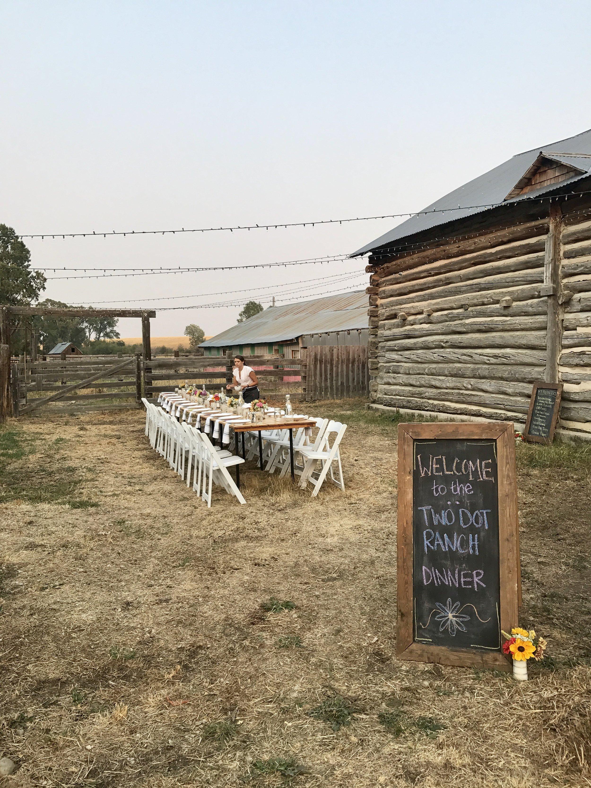 Seasonal Montana Farm to Table Ranch Dinner