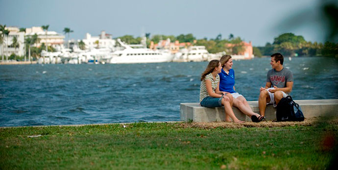 Our campus is located right on the Intracoastal Waterway.