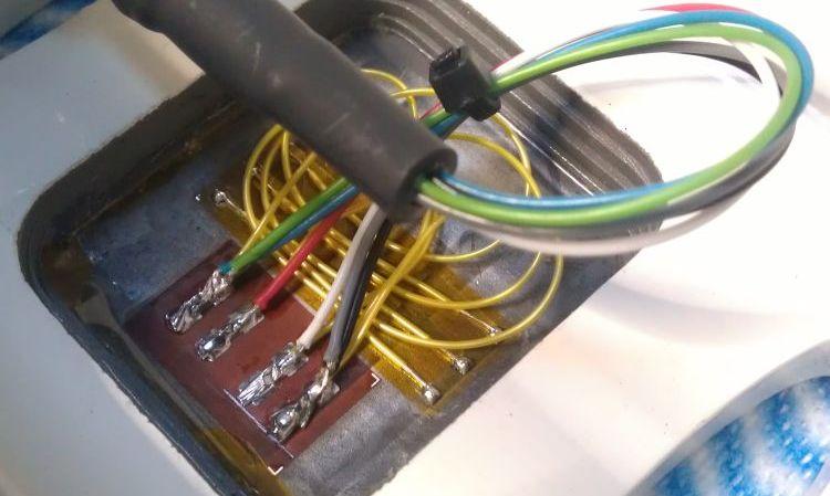 Strain gauge installation