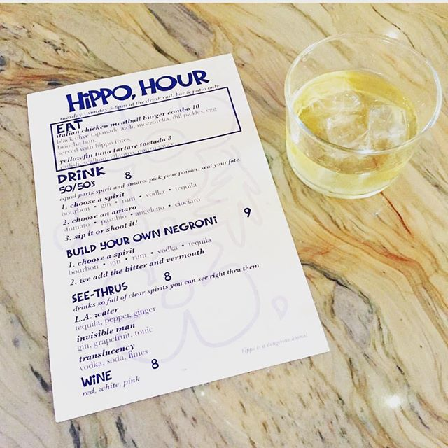 You've got a 50/50 chance you'll enjoy this Monday but 100% chance you'll drink 5 of these 50/50's from @hippohighlandpark after work tonight. Tequila and Angeleno never looked so good. . . . #simpleperfection #amaro #amaroangeleno