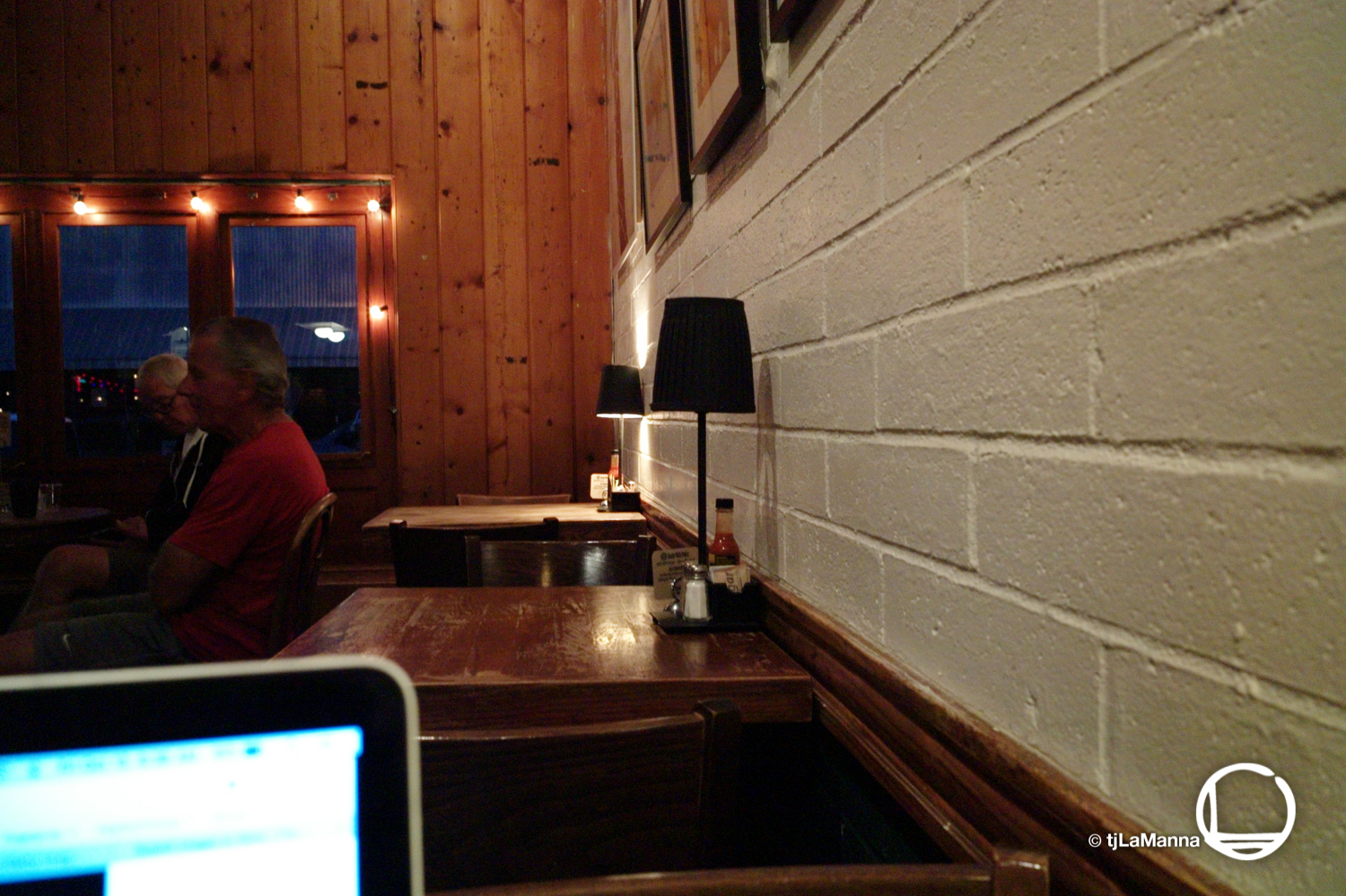 Couldn't sleep. Got up and hit Alta Coffee, within the Cannery District in Newport. Still dark out.  : :