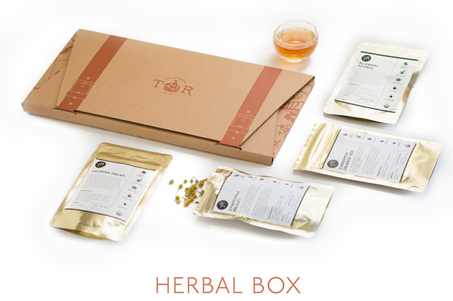 The Tea Runners Herbal Tea Box contains all all herbal, all caffeine-free teas. Rooibos blends, chamomiles, peppermints, honeybush, and more.