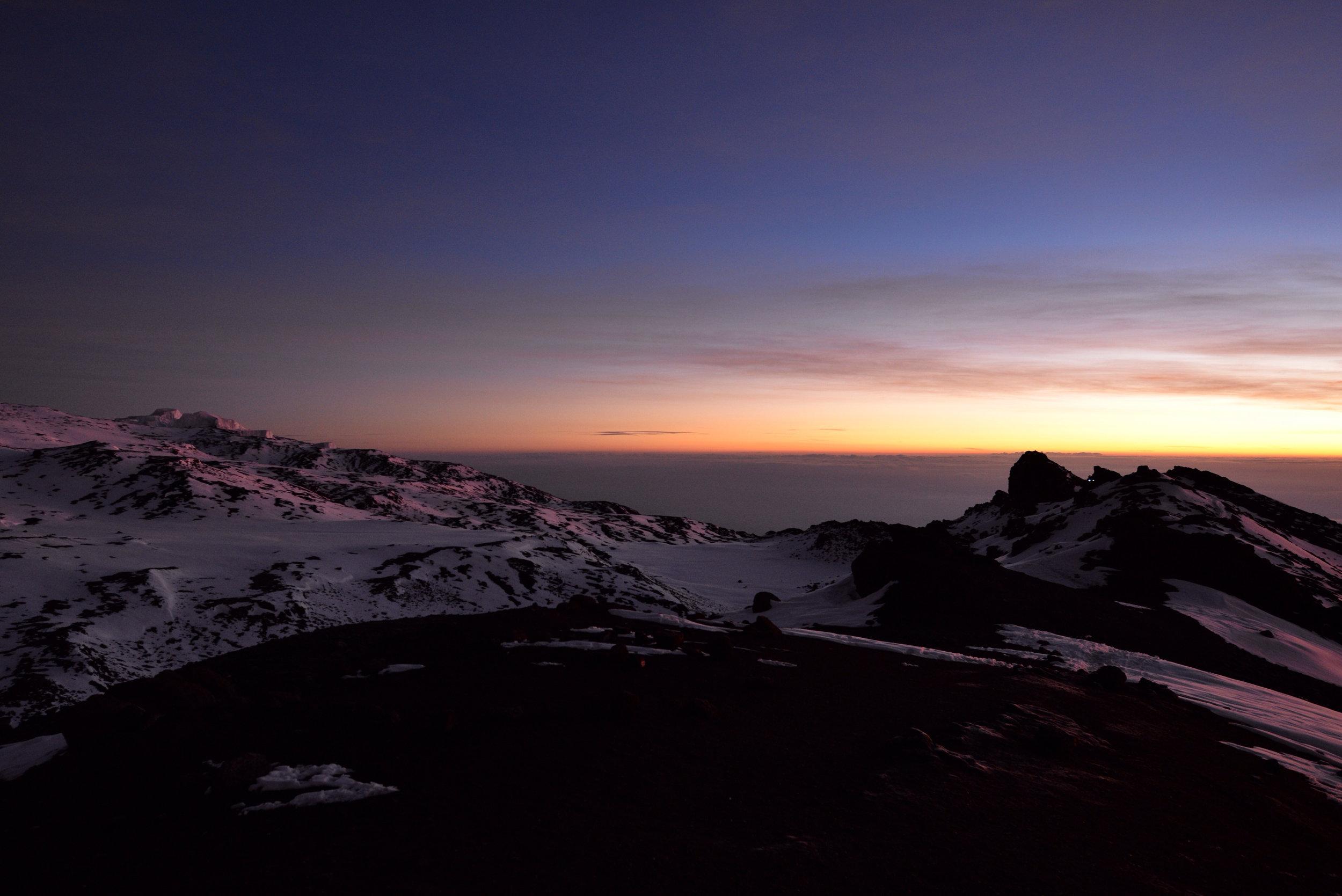 Sunrise Atop Mt. Kilimanjaro, Tanzania