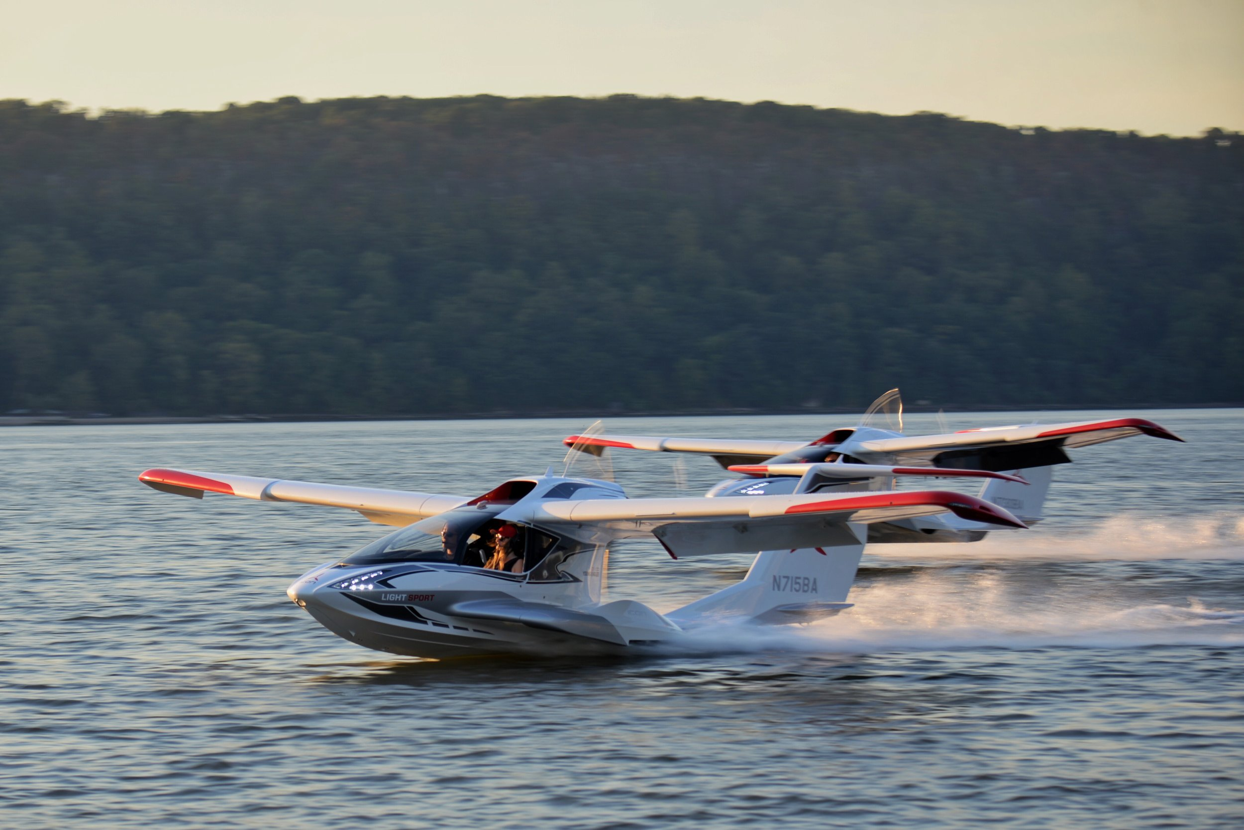 Icon A5's on the Hudson
