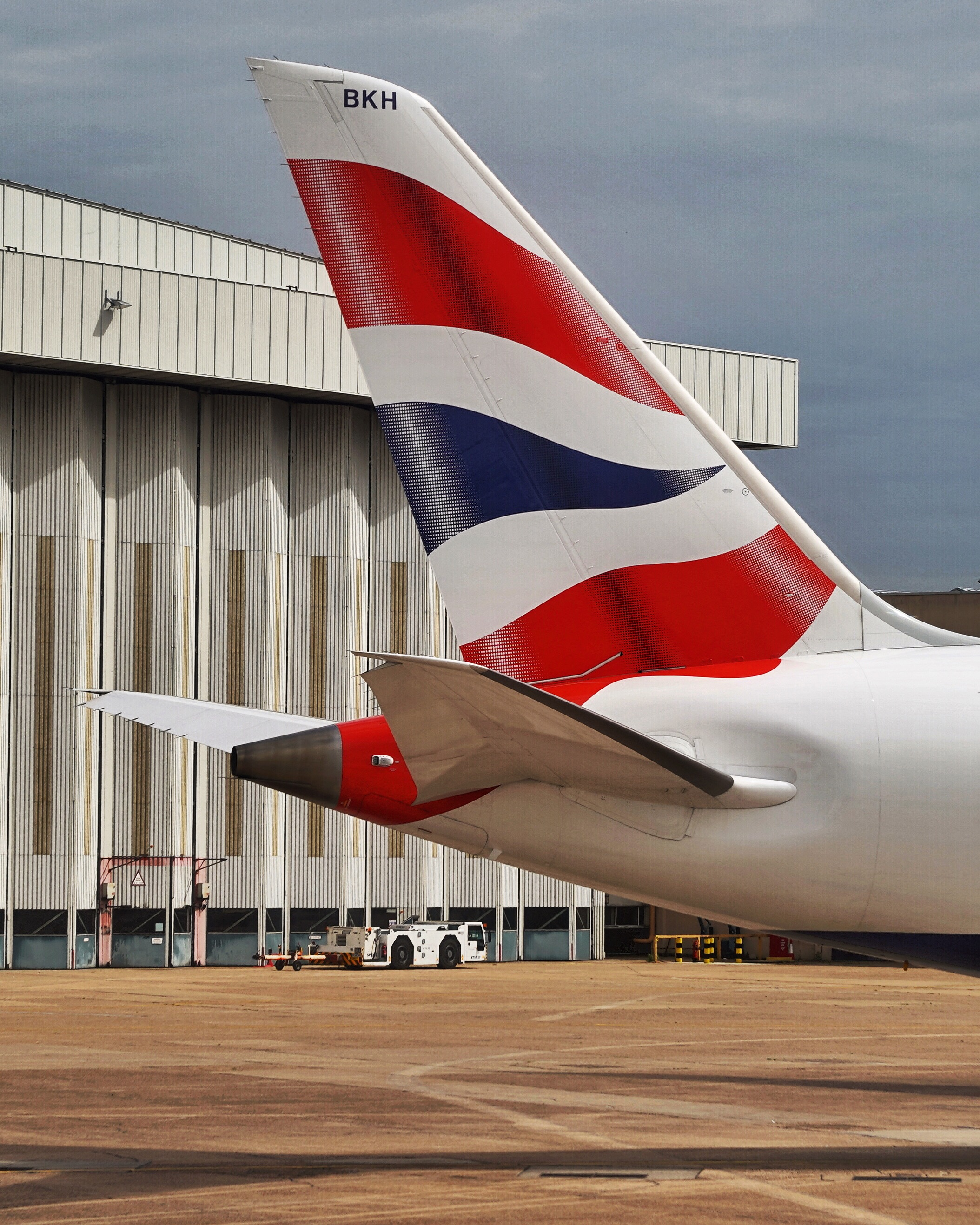 British Airways 787 at Heathrow