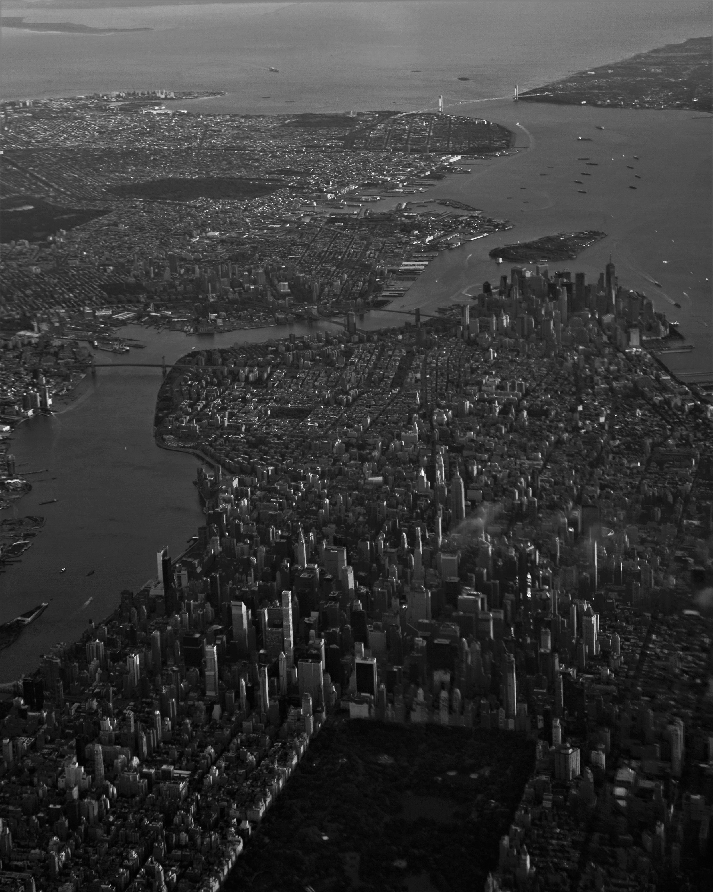 Manhattan, en route from Newark to Heathrow