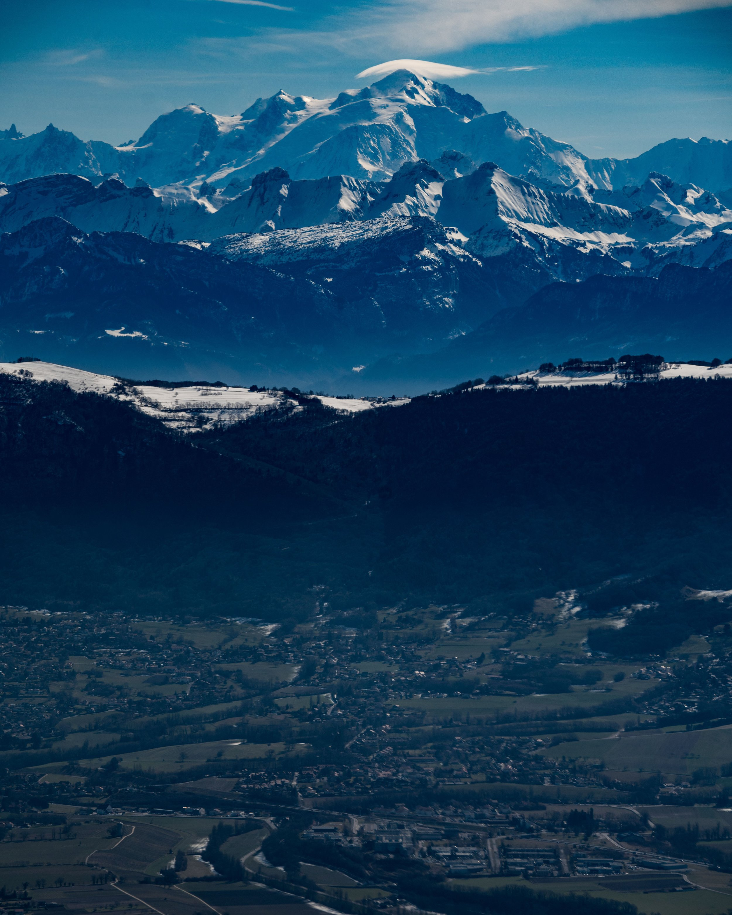 French side of Mont Blanc