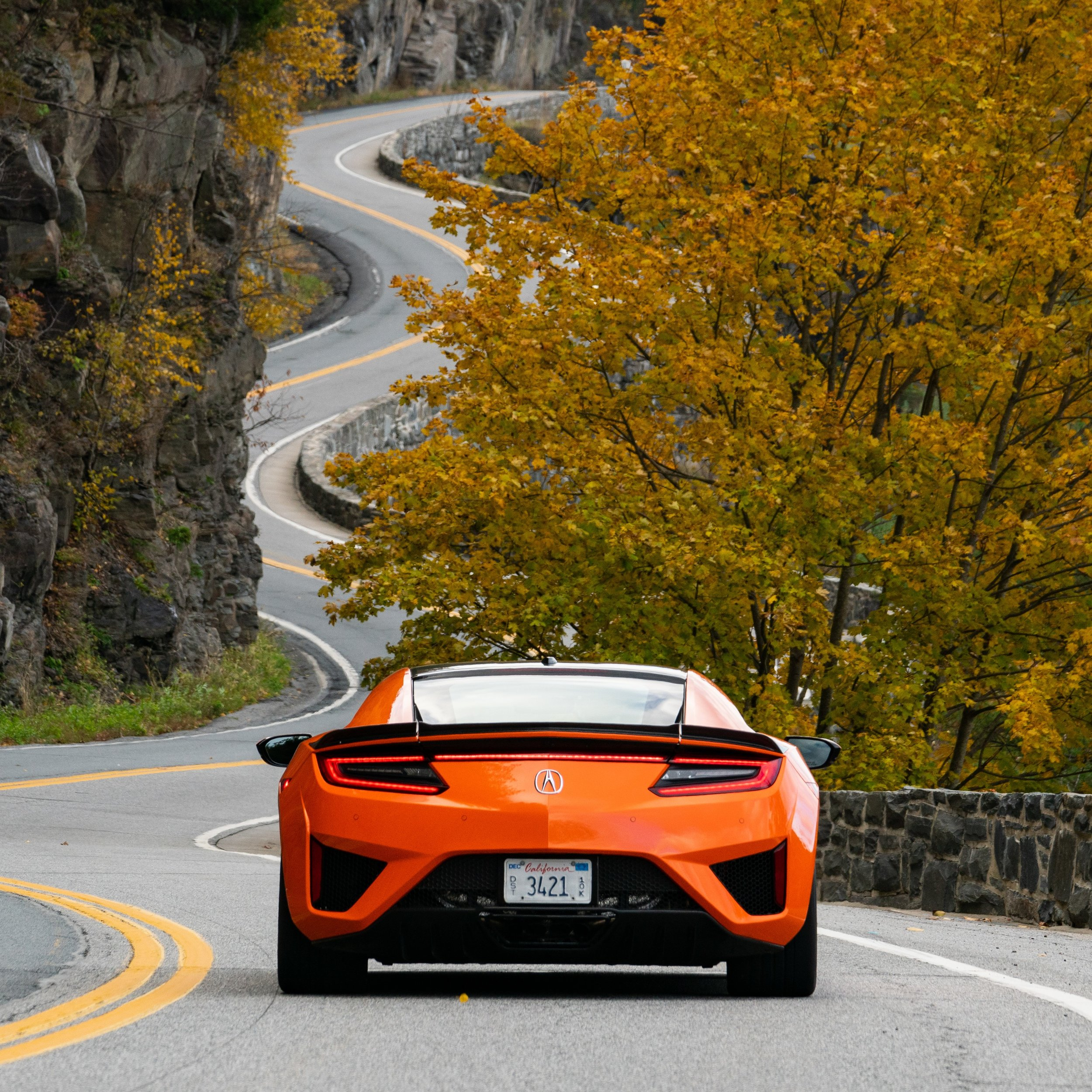 Acura NSX on Hawk's Nest Highway, shot for MullenLowe and Acura