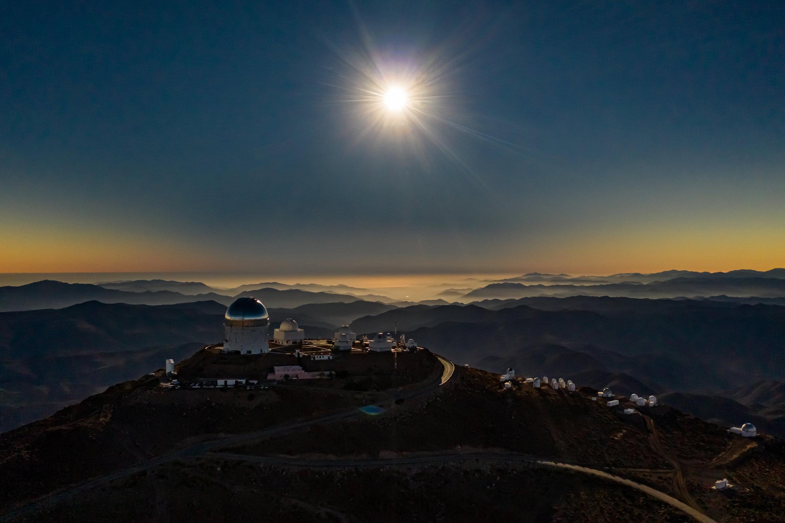 Cerro Tololo Inter-American Observatory, moments before total solar eclipse