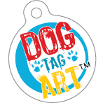Our foster dogs are currently wearing ID tags donated by Dog Tag Art. Visit Dog Tag Art today to create your own custom dog tag for your pet.