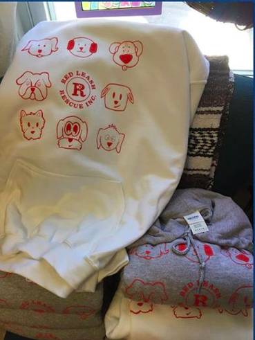 Hoodies white, gray or red $35 donation