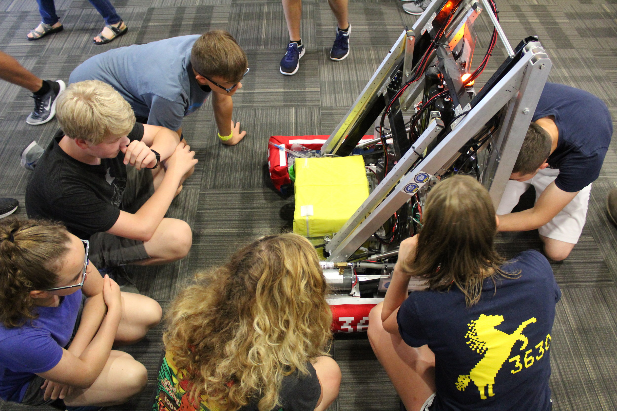 Showing the Rookies the Robot
