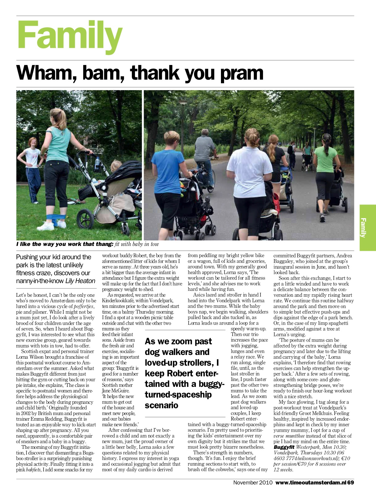 Time Out Amsterdam November 2010 | Family Feature