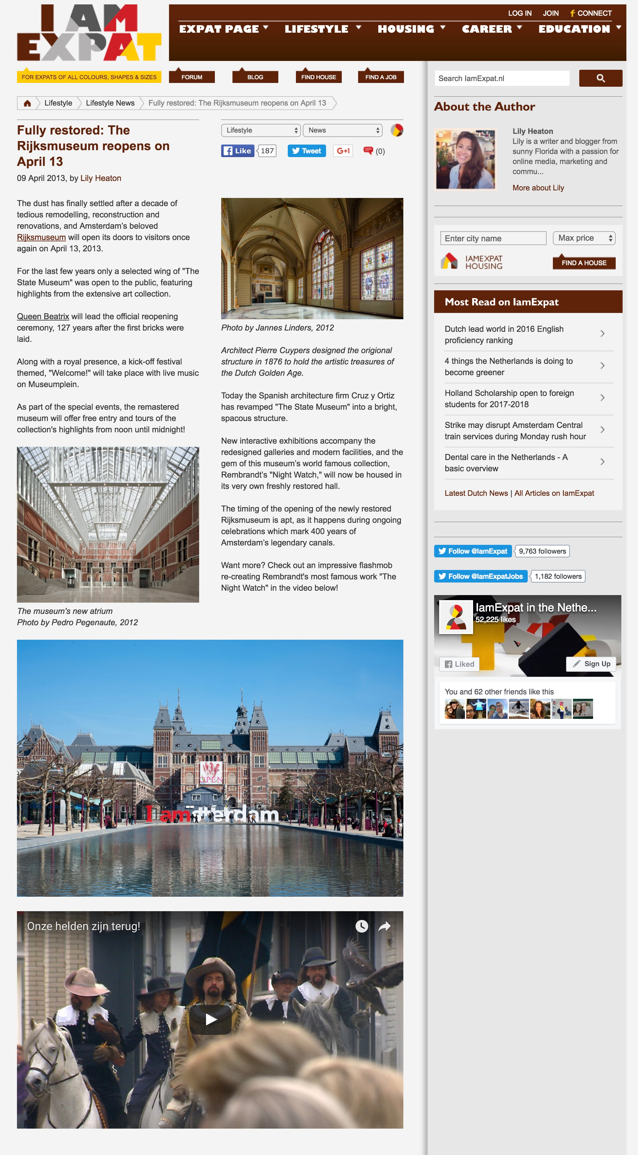 Fully restored: The Rijksmuseum Reopens