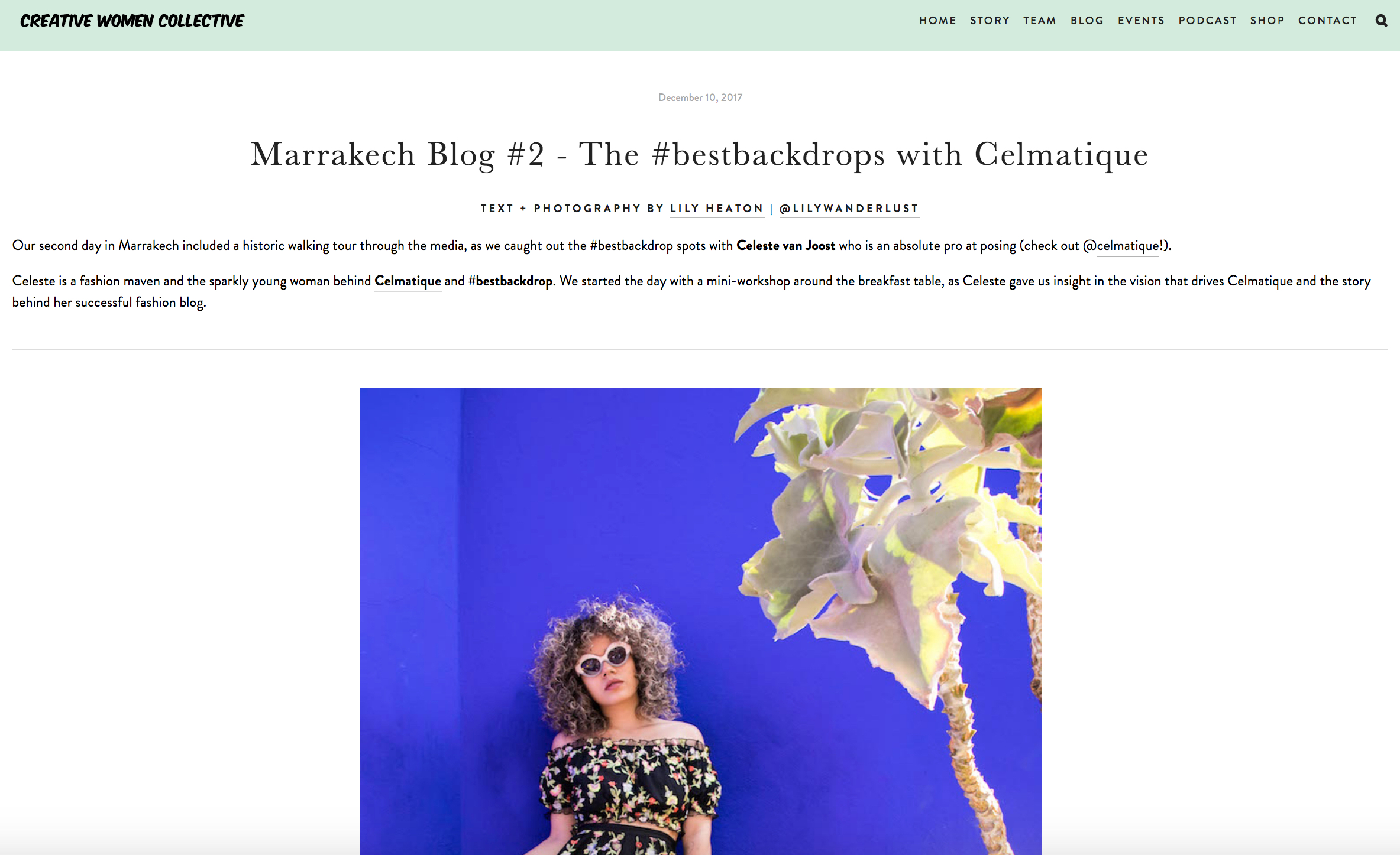 CWC Blog - Marrakech with Celmatique