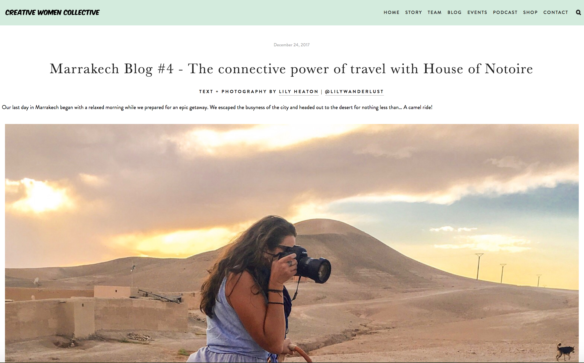 CWC Blog - Marrakech with House of Notoire