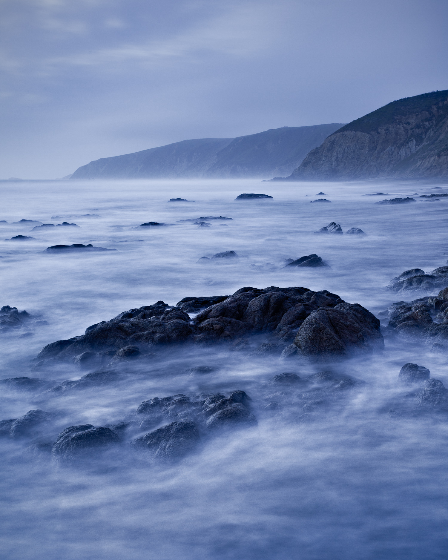 Incoming Tide at Dusk, Point Reyes