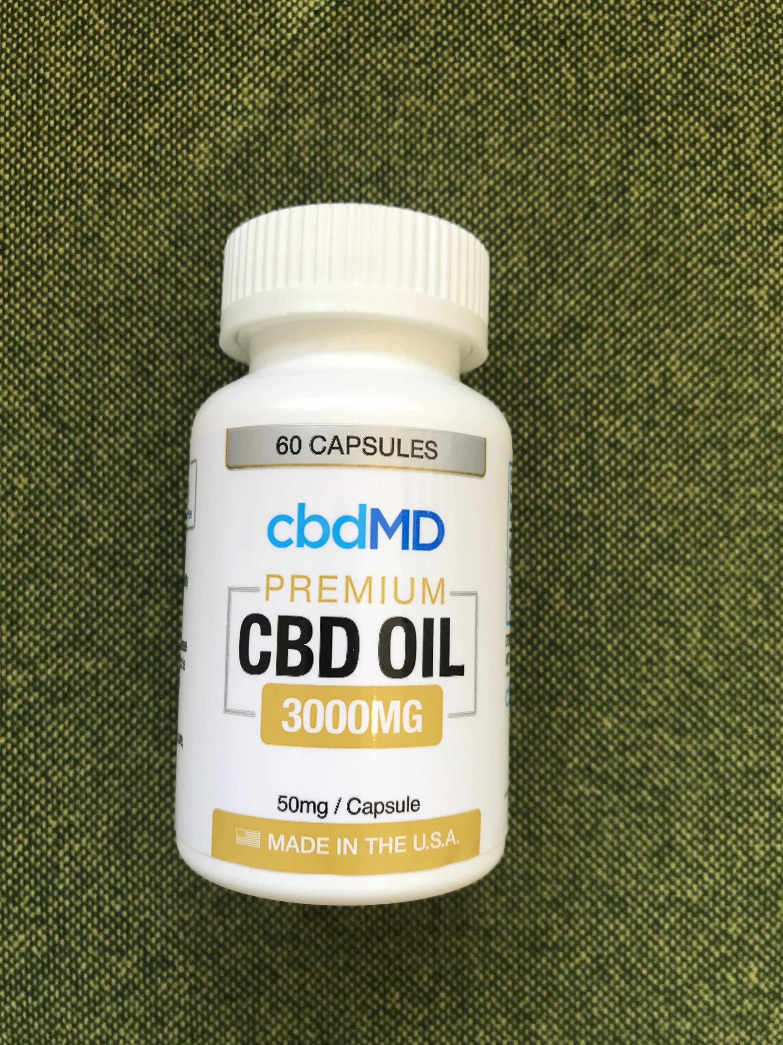cbdMD Premium Capsules 50mg - $155.00 (60 count)