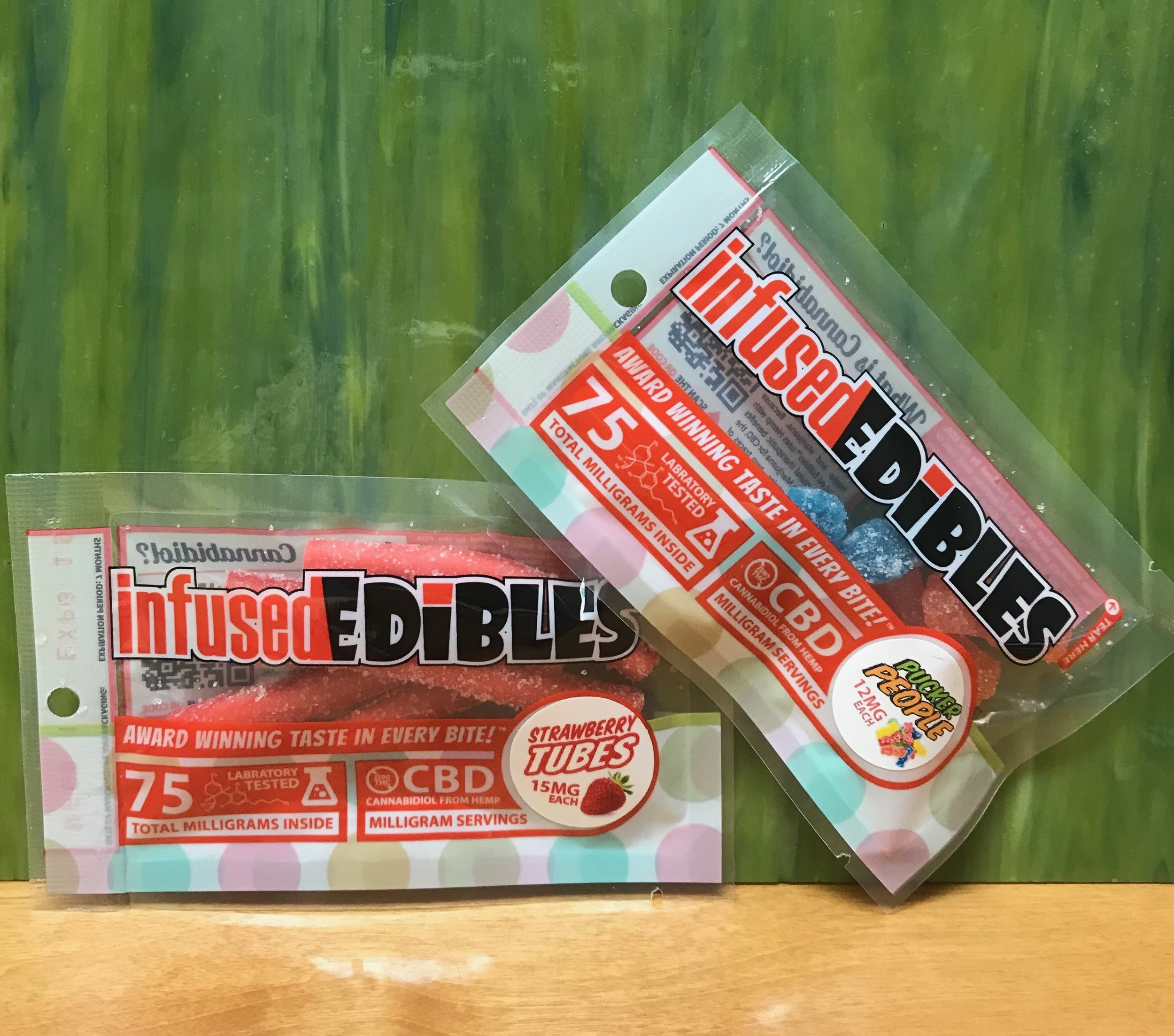 infused EDIBLES 75mg/bag (thc free) - $14.99