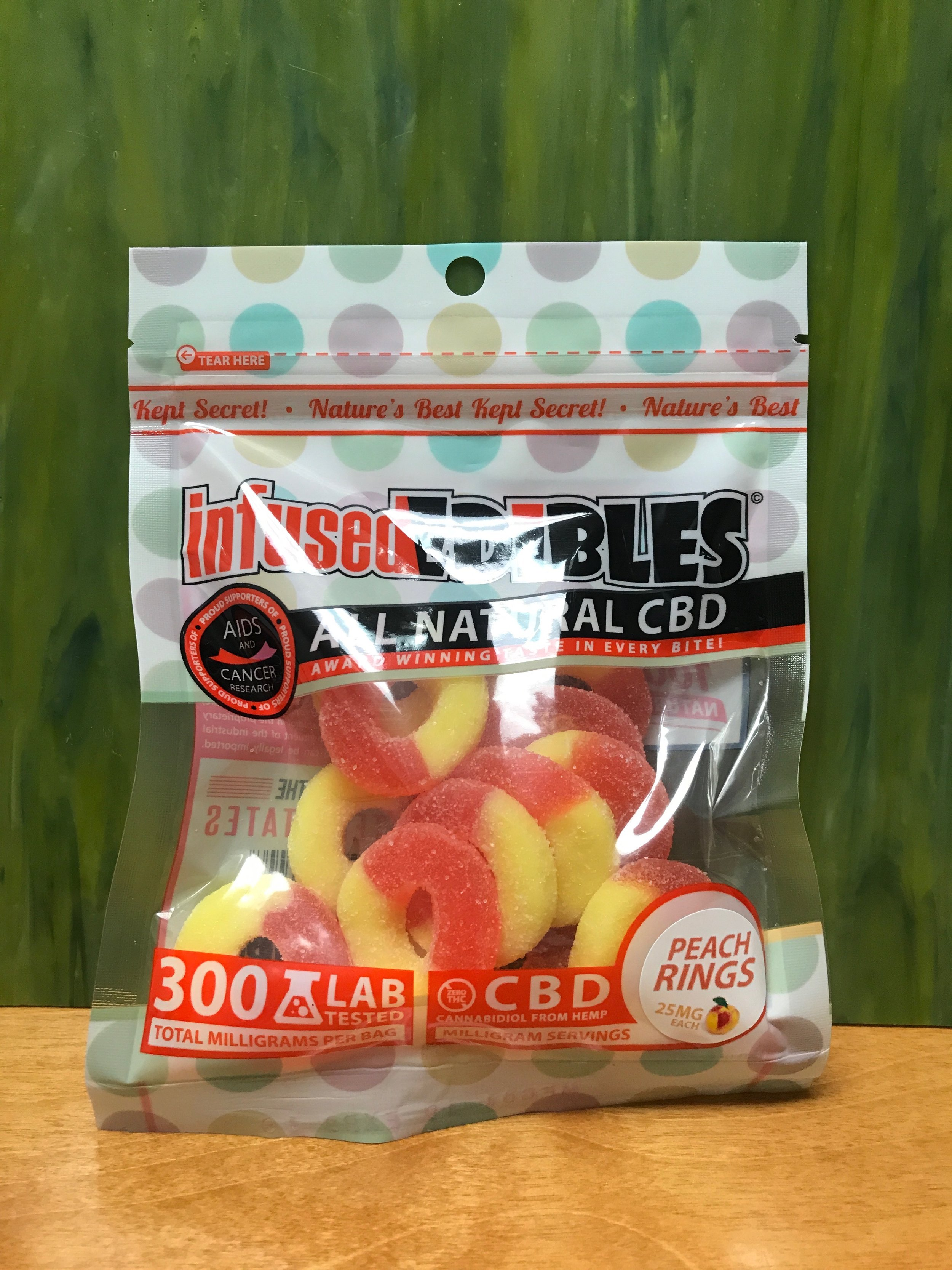 infused EDIBLES Peach Rings 300mg (thc free) - $29.99