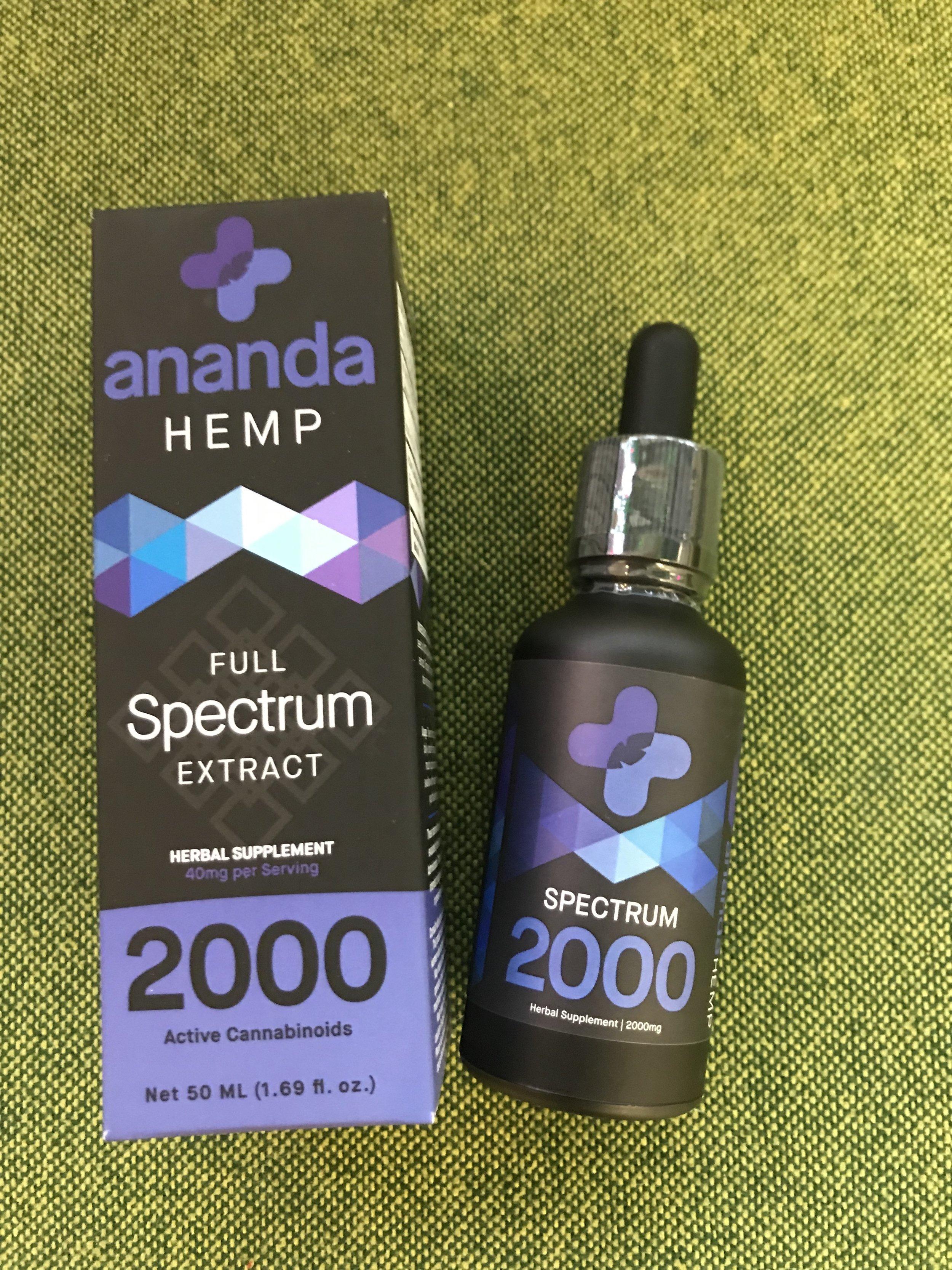 Ananda Full Spectrum 2000mg - $230.00