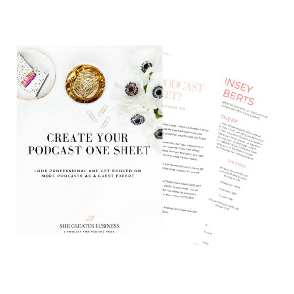 In this guide you'll learn what a podcast one sheet is, why you need one to get booked as a guest expert on more podcasts and how to easily create one using free design tools.