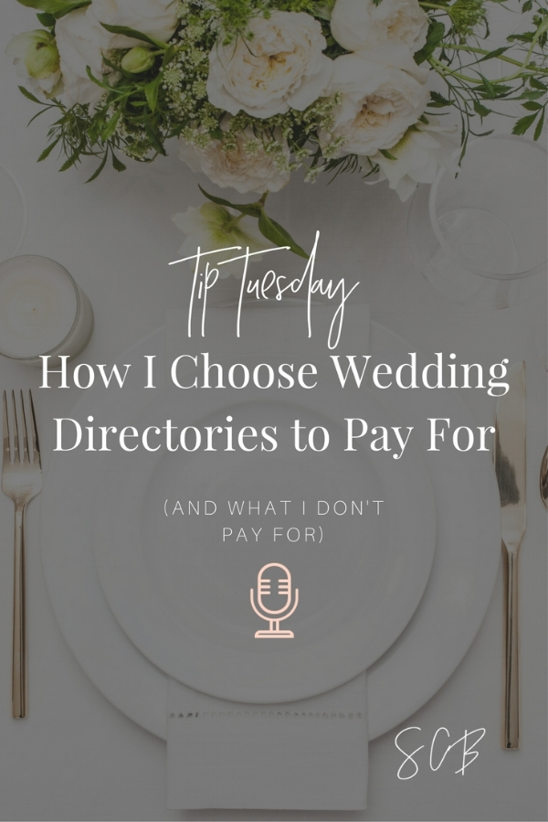 How to Decide Which Wedding Directories to Pay for as a Wedding Vendor