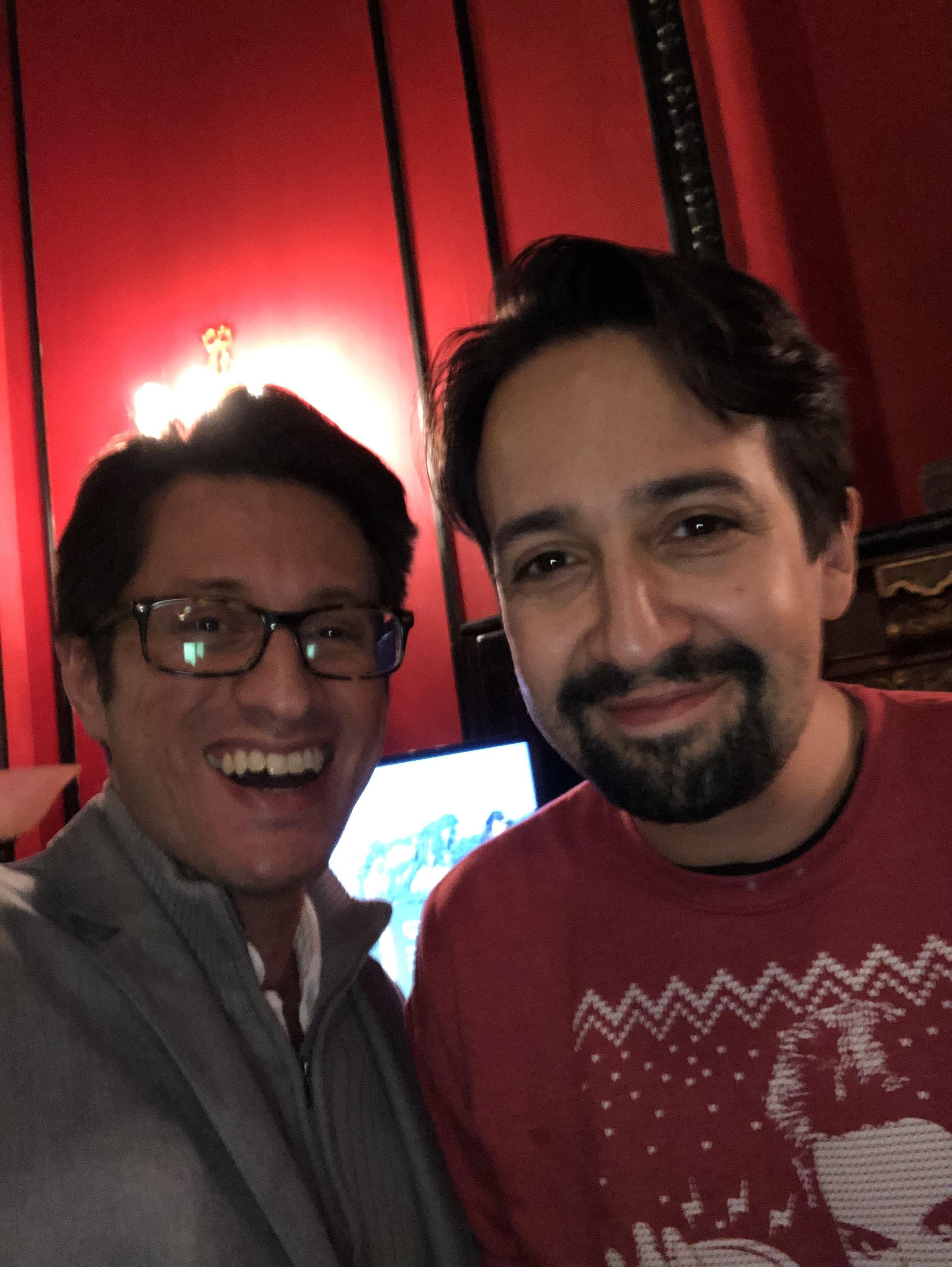 Dan Mangru and Lin-Manuel Miranda - Creator of Hamilton