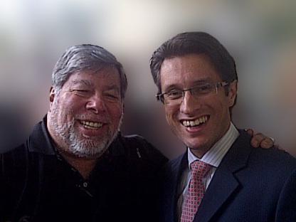 Dan Mangru and Steve Wozniak - Co-Founder of Apple