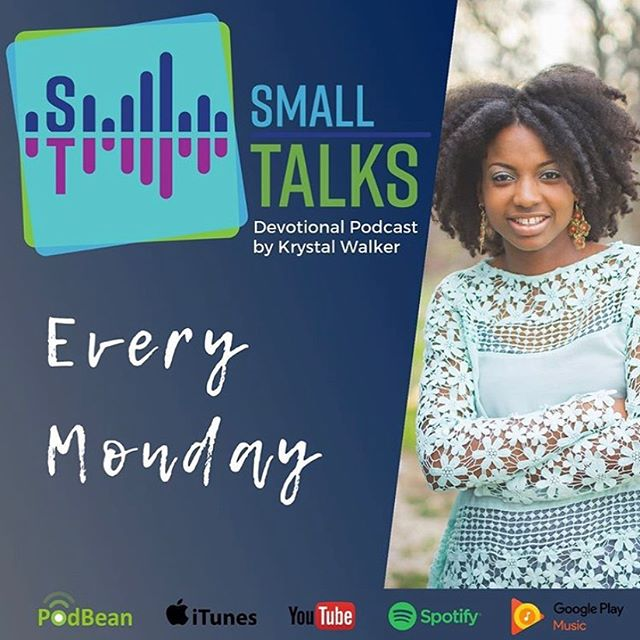 Created a new logo for @krystalwalks and her podcast, Small Talks. Mondays.... make sure you tune in. • • • #graphicdesign #logos #podcasts #blogger #logodesign #SmallTalksBIGGod #christianblogger