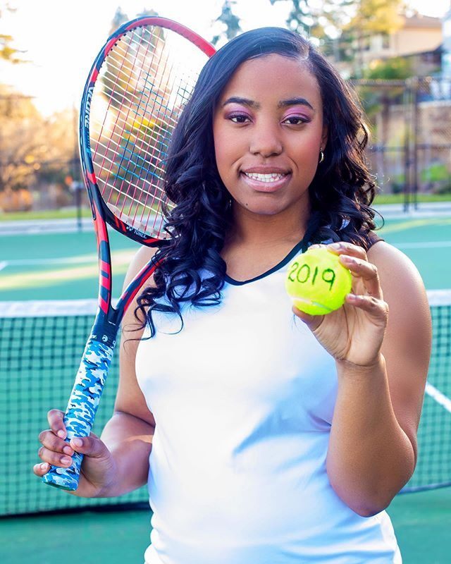 """The Class of 2019 has seriously broke me down. Too many of my babies are officially """"grown"""" now. Shout out to my cousin @autumn_simpson_19. It was such an honor taking your pics Love. If you didn't know, she's a tennis star!! . . . #tennis #athlete #classof2019 #seniorphotos #airdesigns #senior2019"""