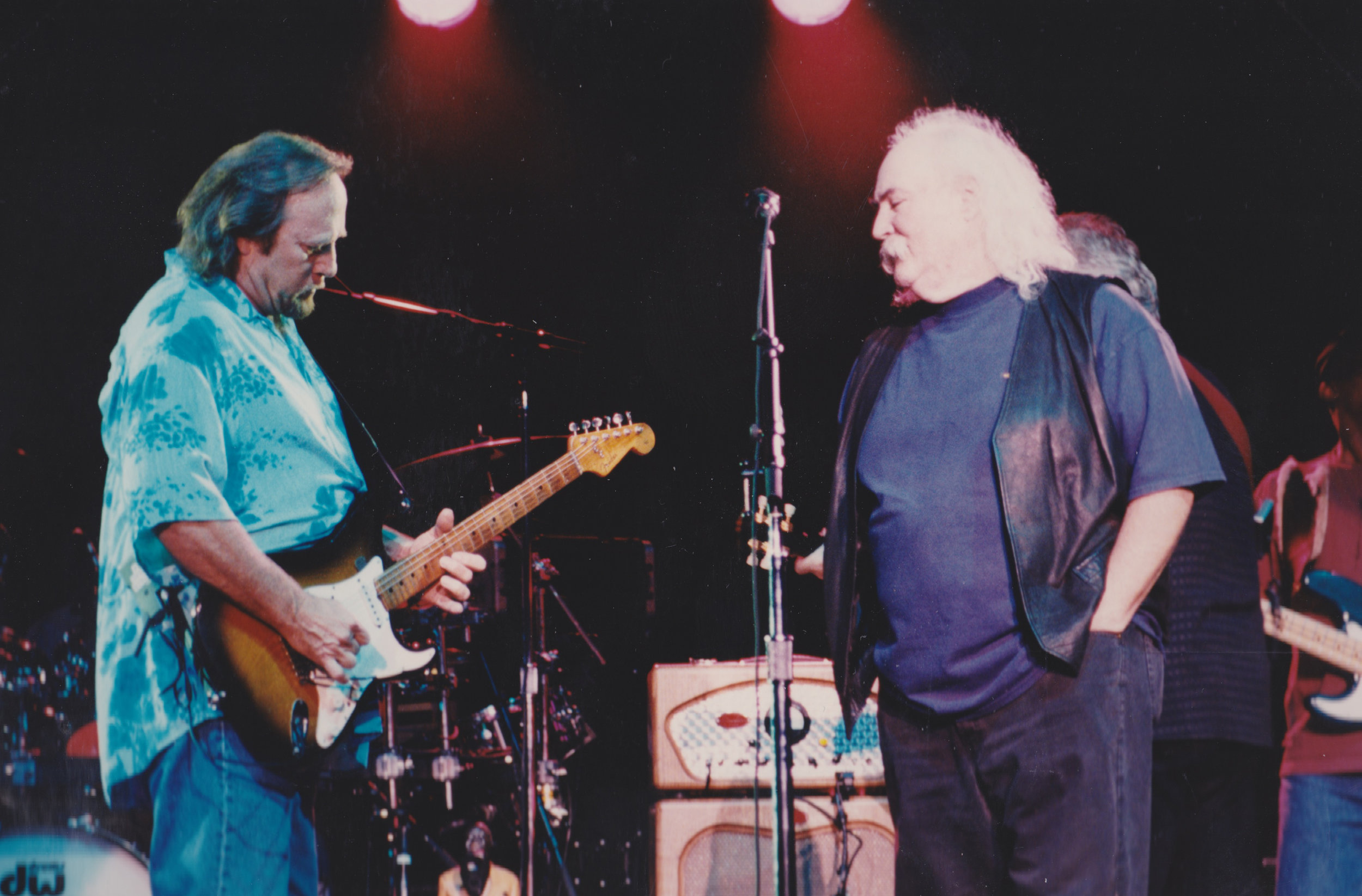 """""""My one of a kind compadre..."""" Steven Stills and David Crosby. Photo By RD Mathers"""