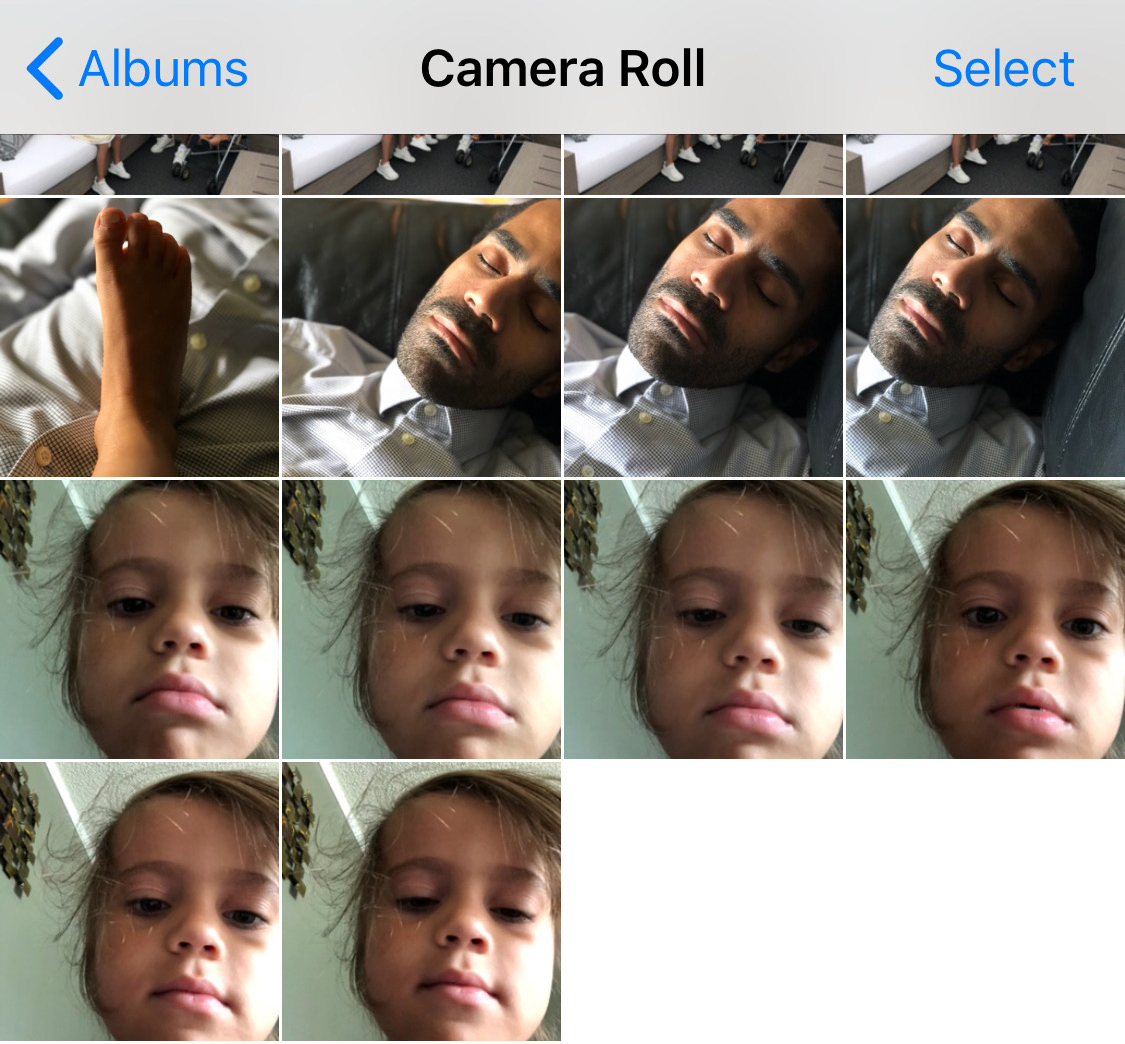 When you fall asleep and your 5 y/o gets your phone.
